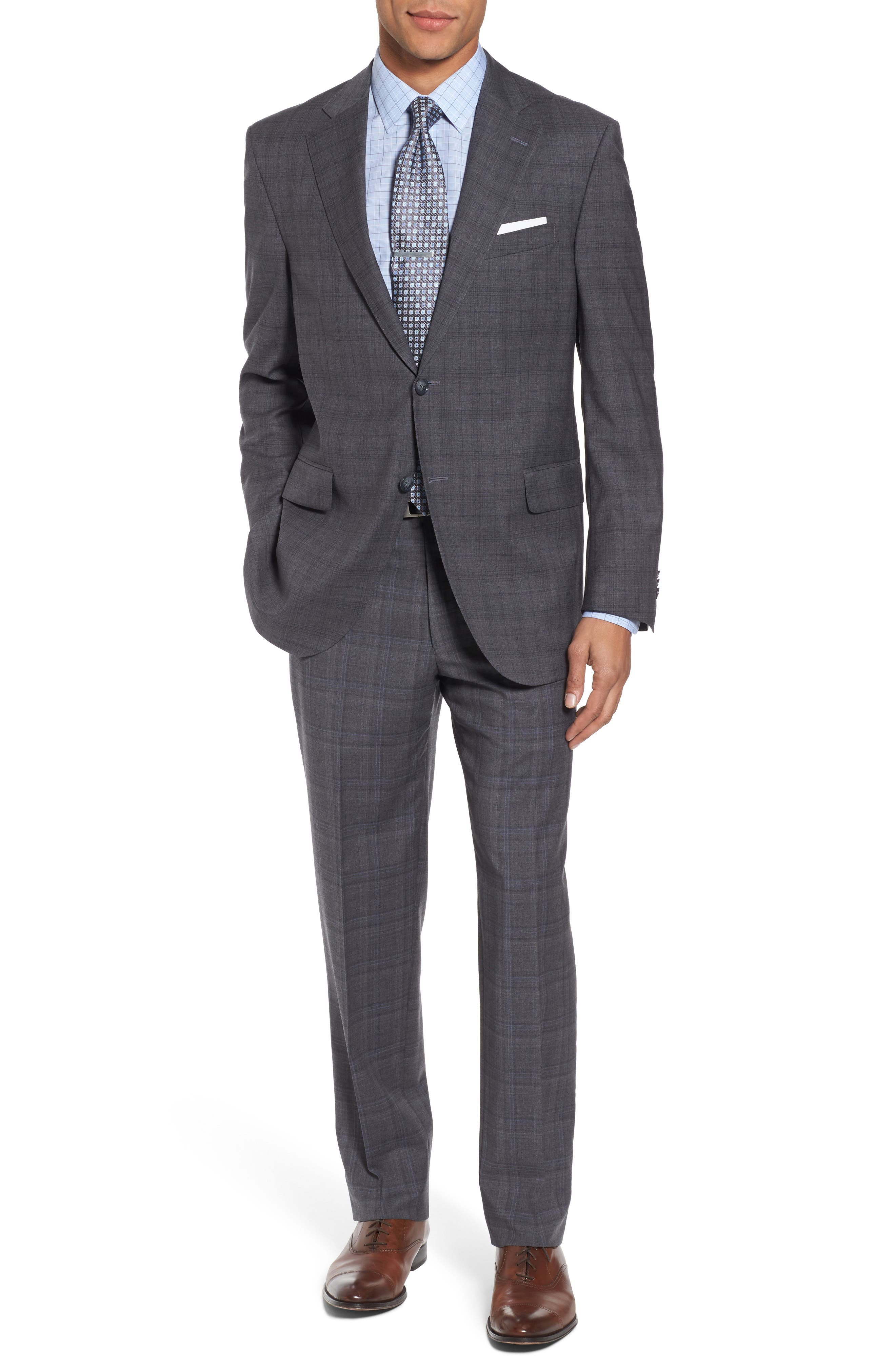 Peter Millar Classic Fit Plaid Wool Suit