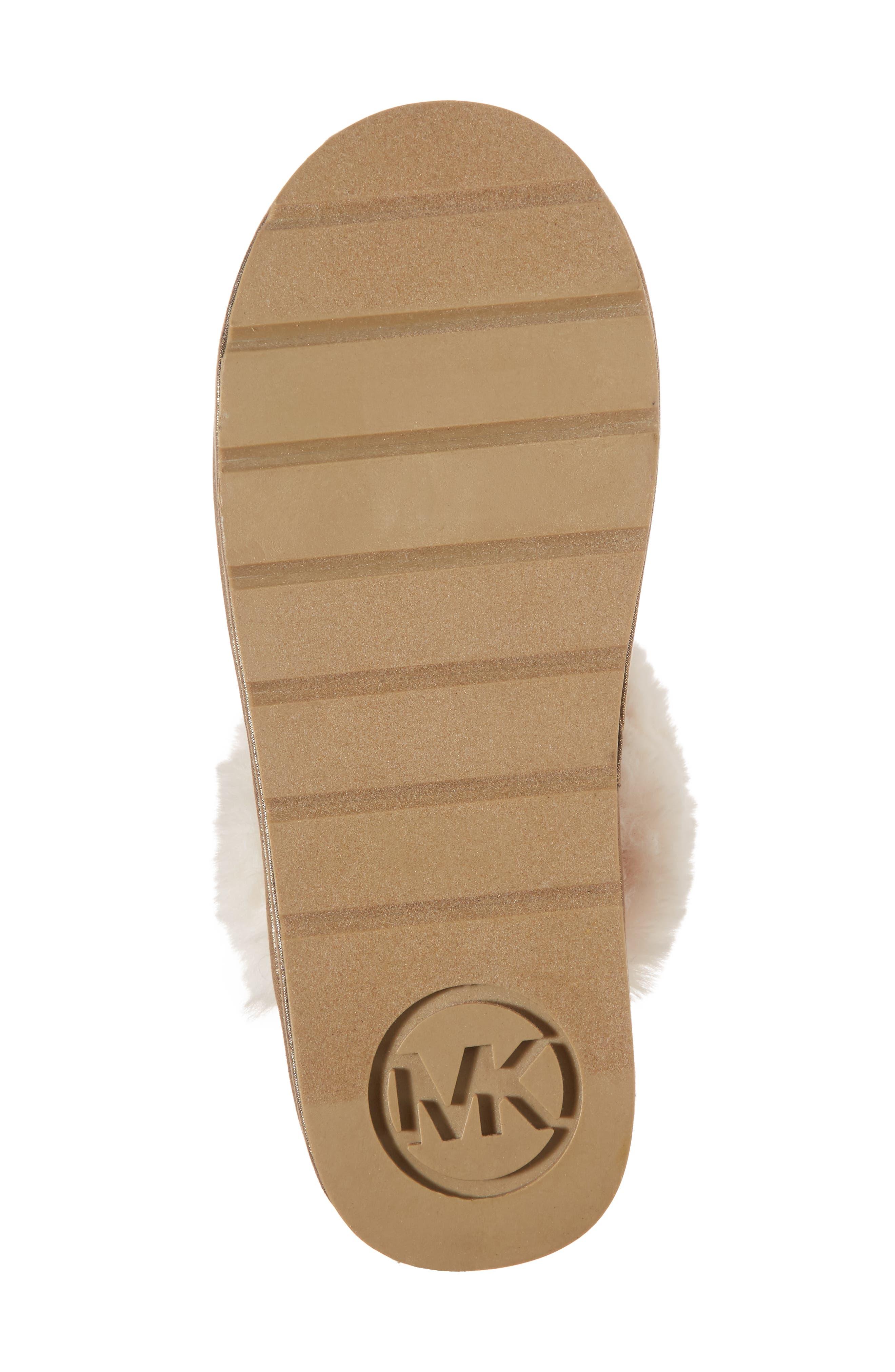 Alternate Image 6  - MICHAEL Michael Kors Grace Bow Faux Fur Lined Mule (Toddler, Little Kid & Big Kid)