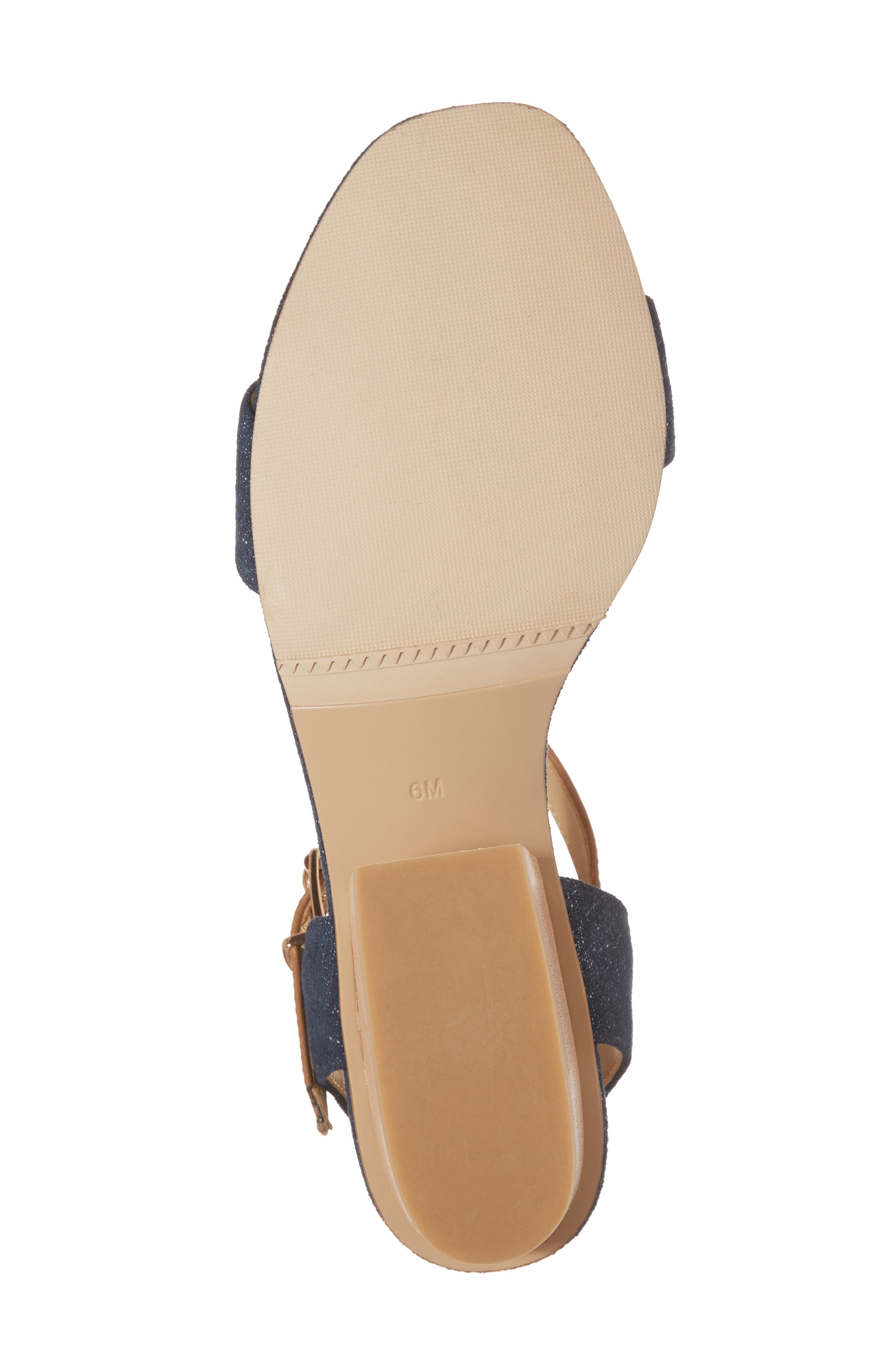 Chaddy Sandal,                             Alternate thumbnail 6, color,                             Jeans Printed Suede