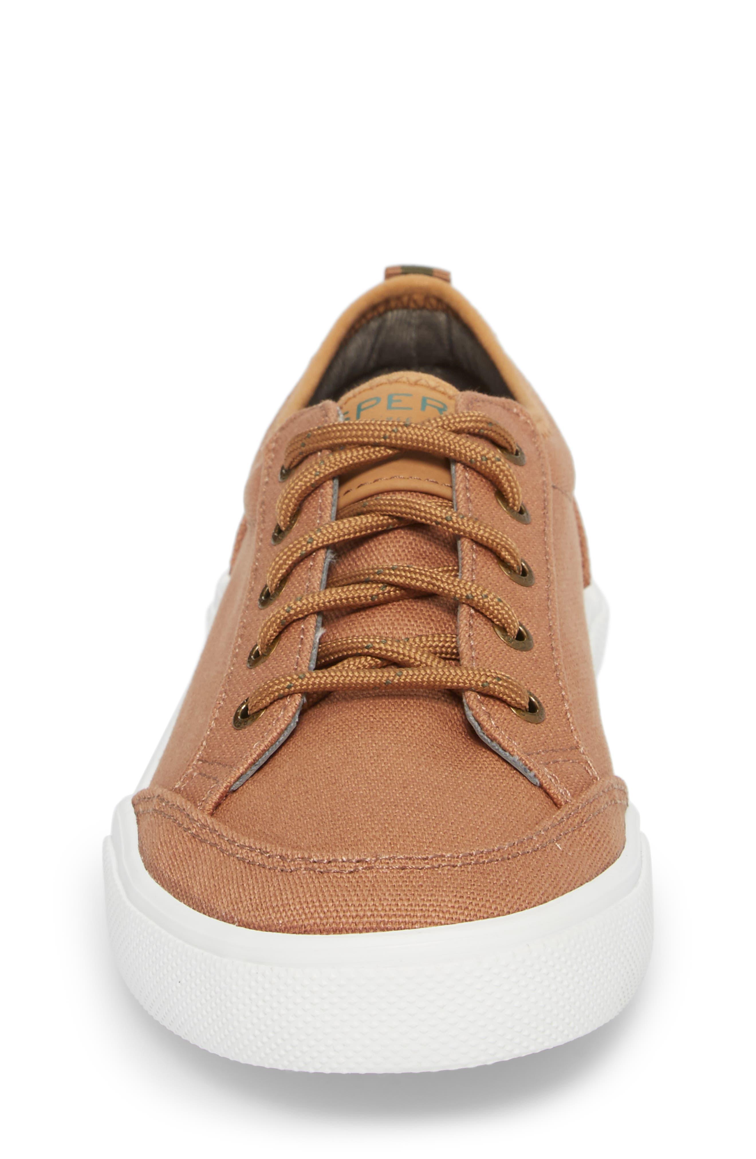 Sperry Deckfin Sneaker,                             Alternate thumbnail 4, color,                             Caramel