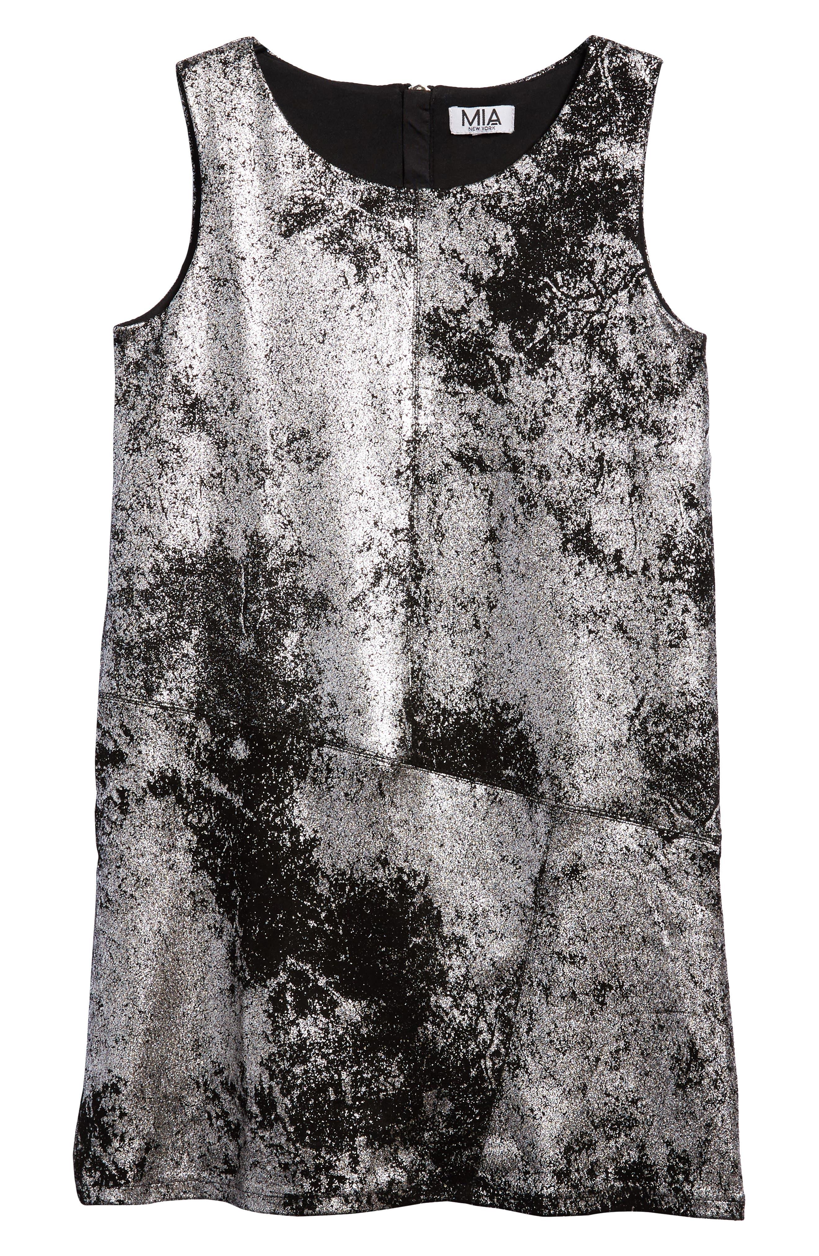 Mia New York Metallic A-Line Dress (Big Girls)
