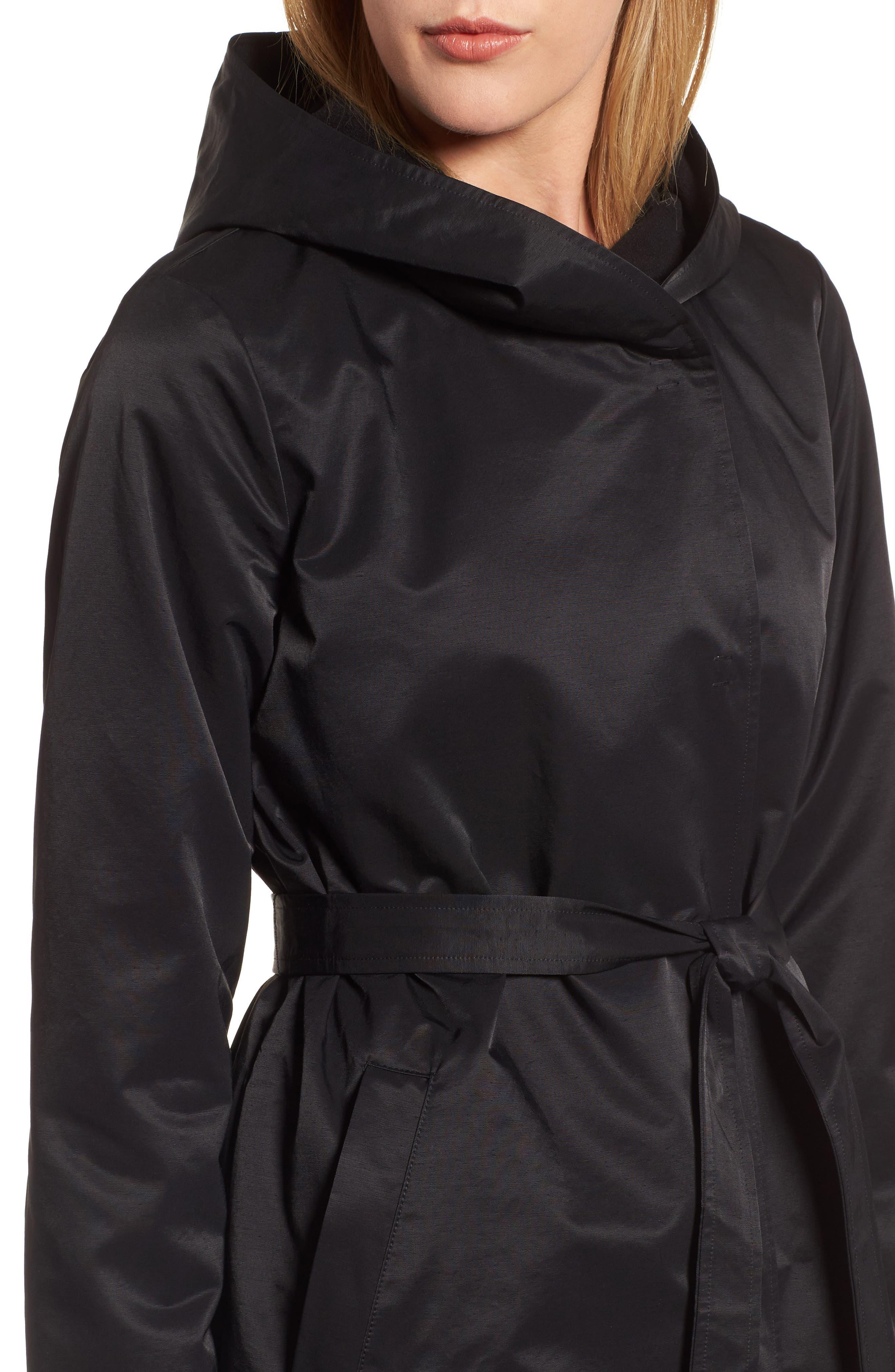 Alternate Image 4  - Eileen Fisher Fleece Lined Hooded Coat