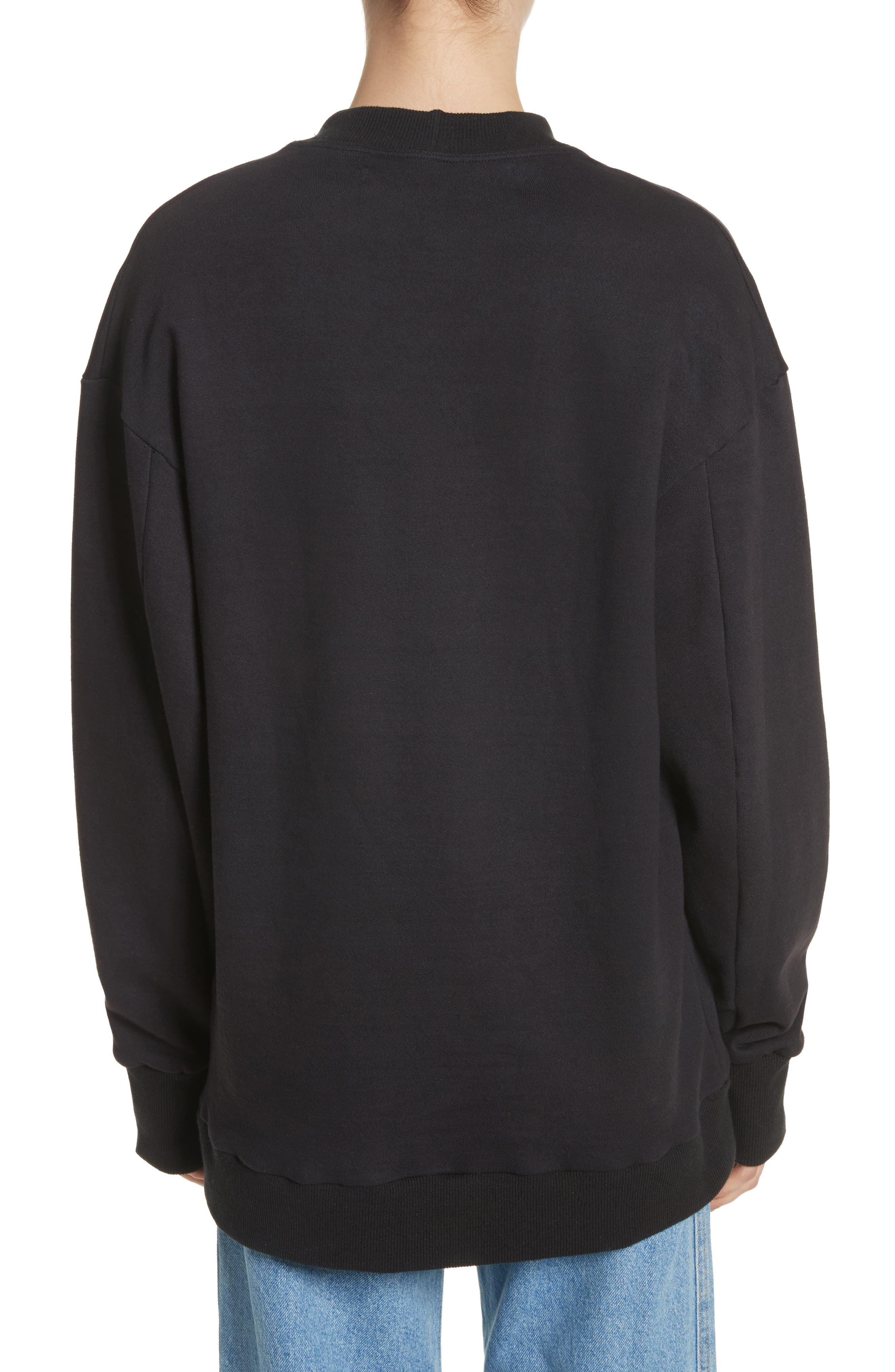 Relaxed Fit Sweatshirt,                             Alternate thumbnail 2, color,                             Black
