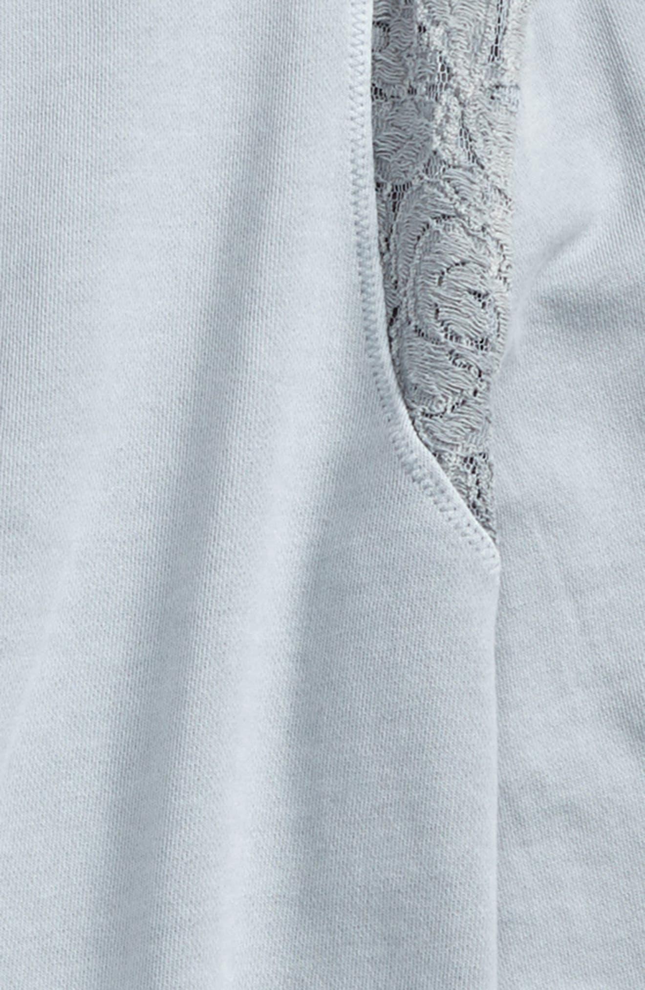 Lace Sweatshirt,                             Alternate thumbnail 2, color,                             Grey Dawn