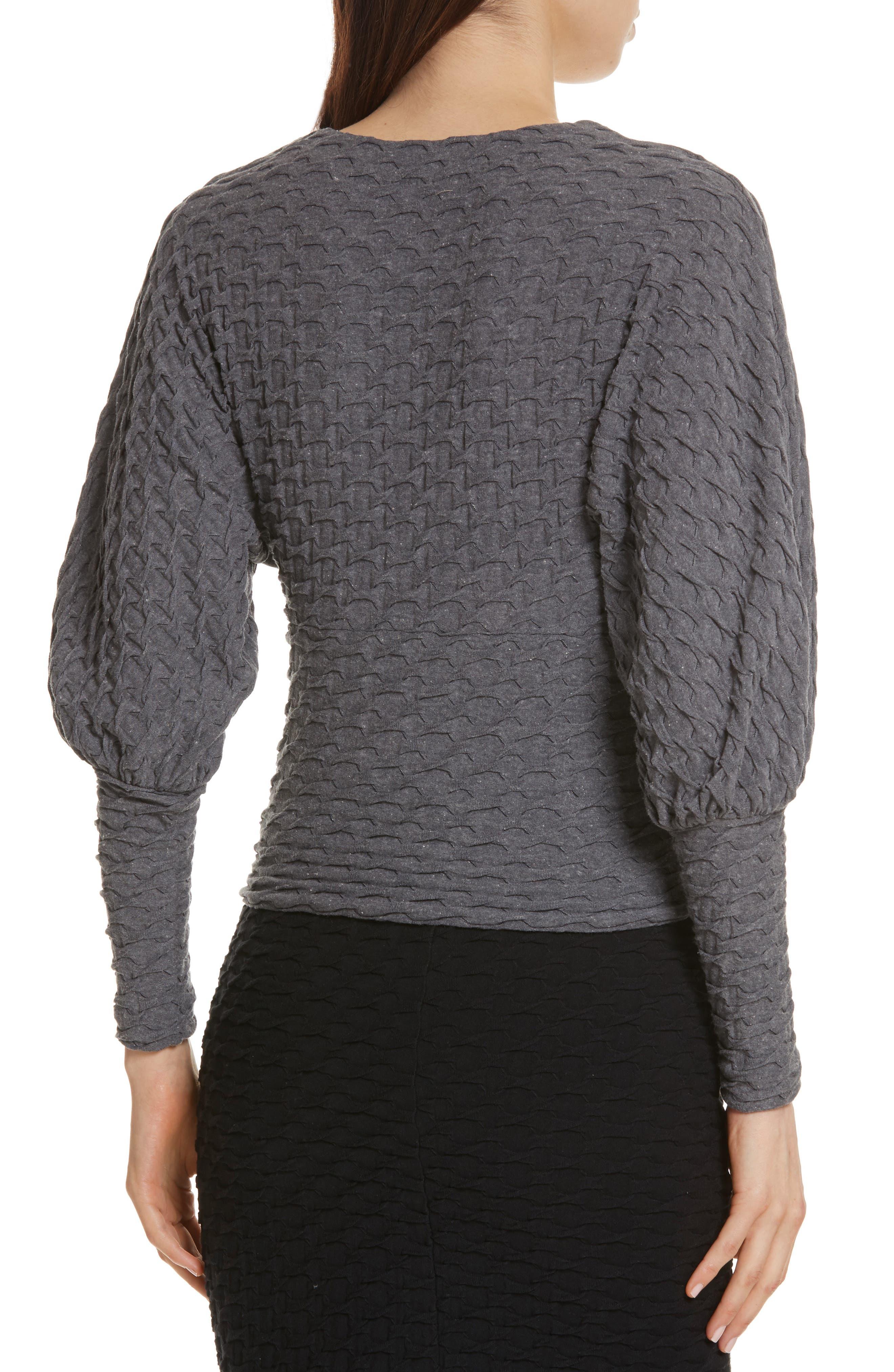 Surplice Sweater,                             Alternate thumbnail 2, color,                             Grey