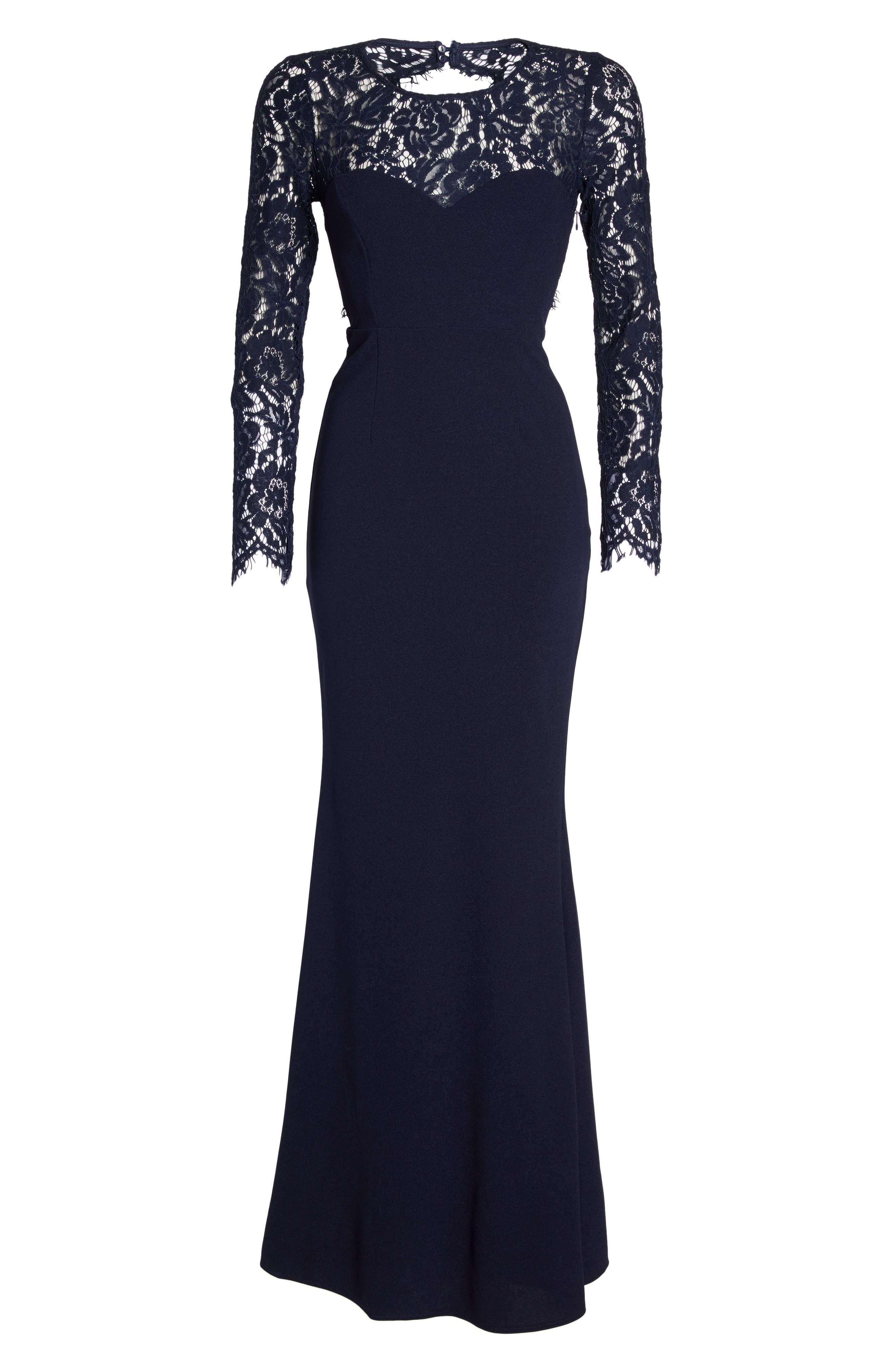 Greylin angie navy maxi dress