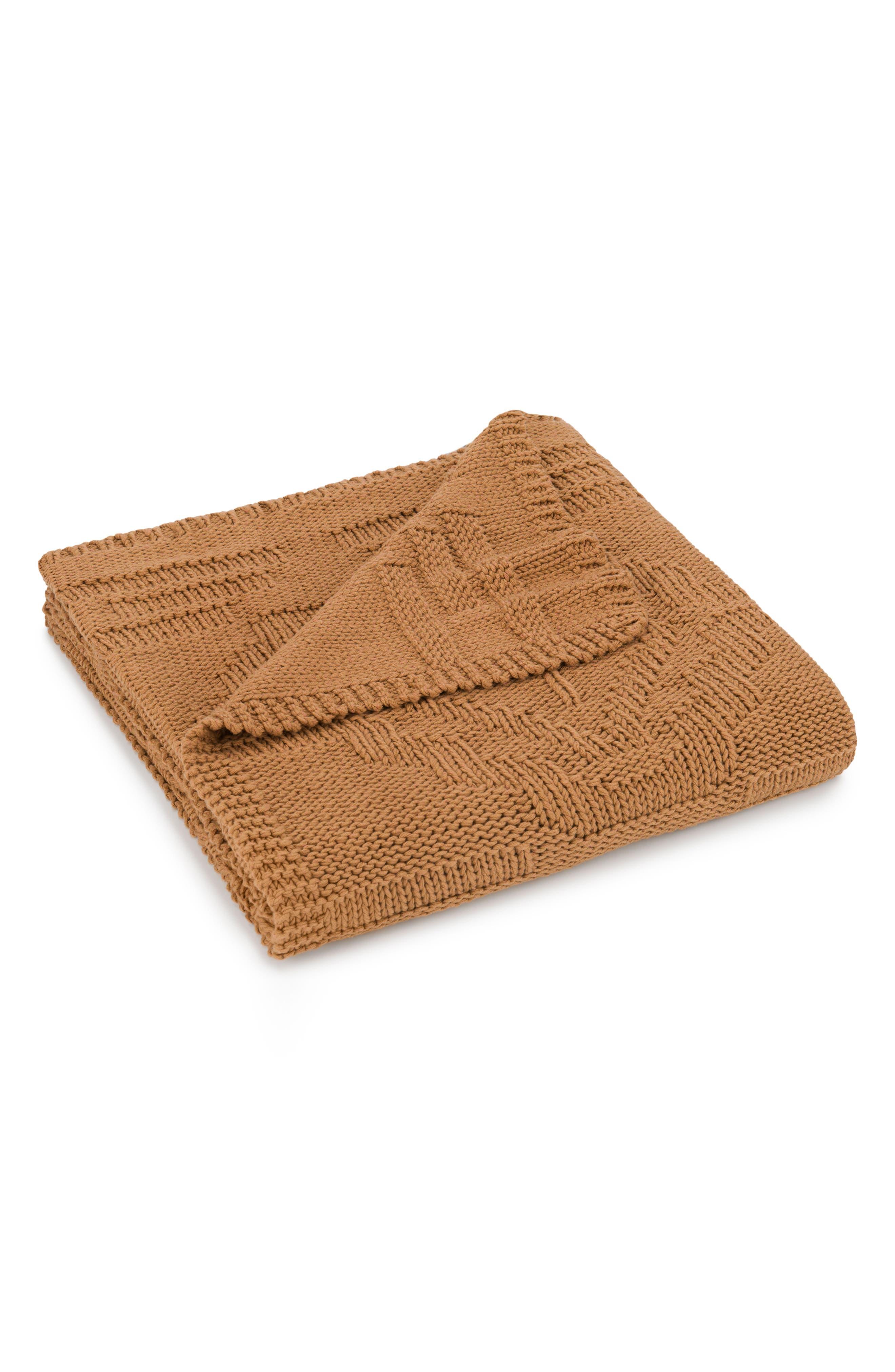 Santa Clara Knit Throw,                         Main,                         color, Cinnamon