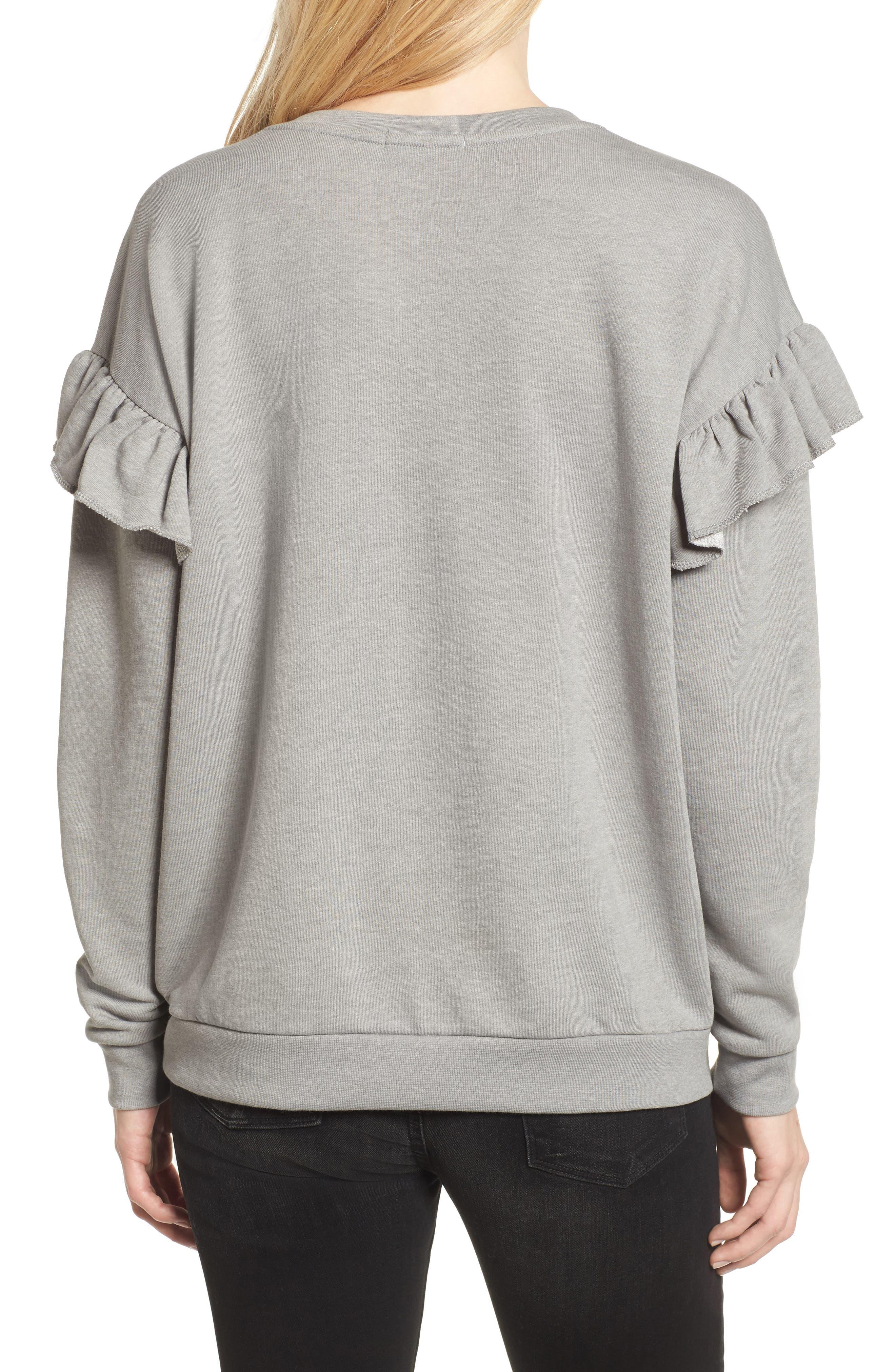 All the Jingle Ladies Sweatshirt,                             Alternate thumbnail 2, color,                             Grey