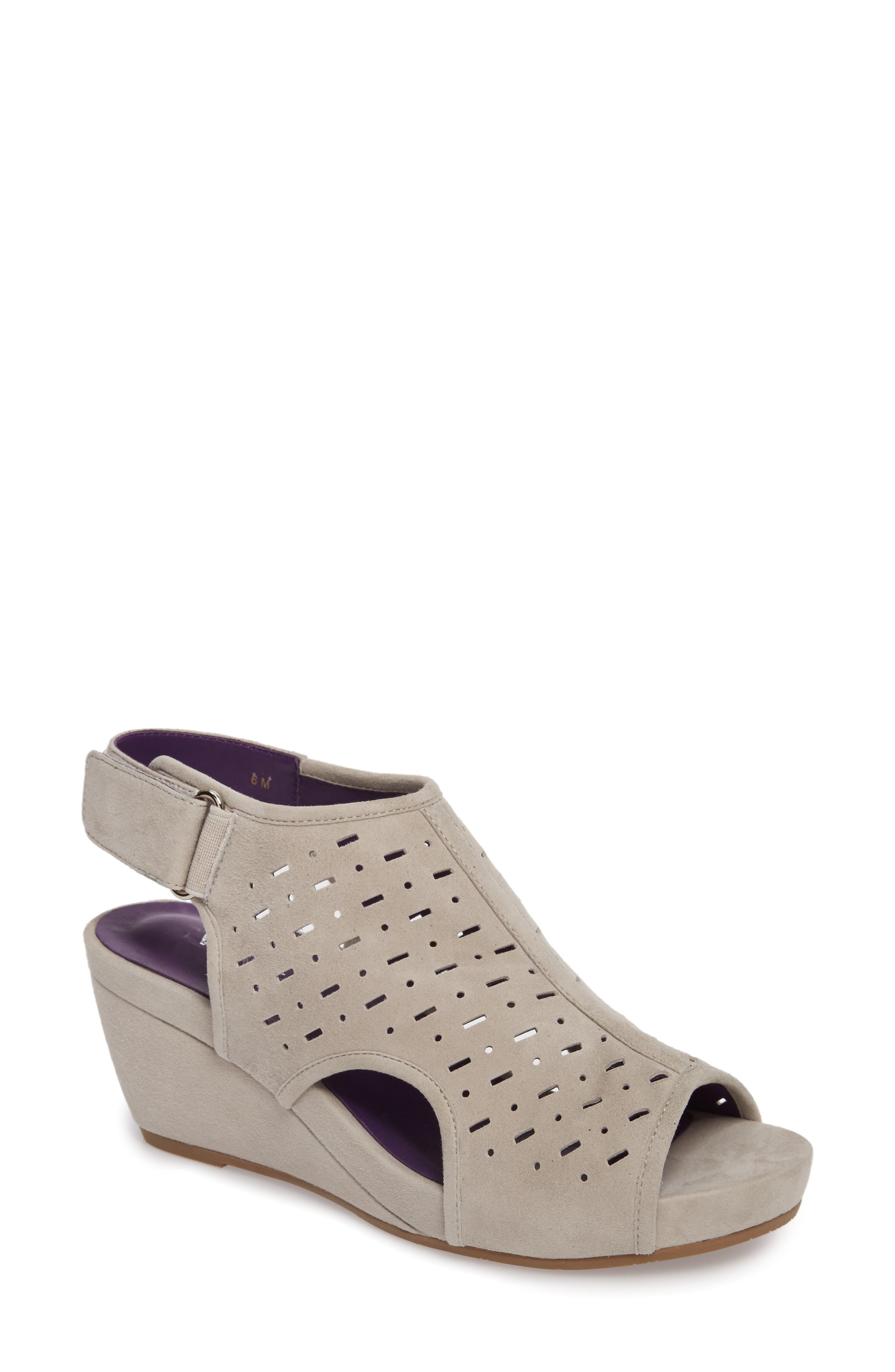 Ibis Wedge,                             Main thumbnail 1, color,                             Dove Suede