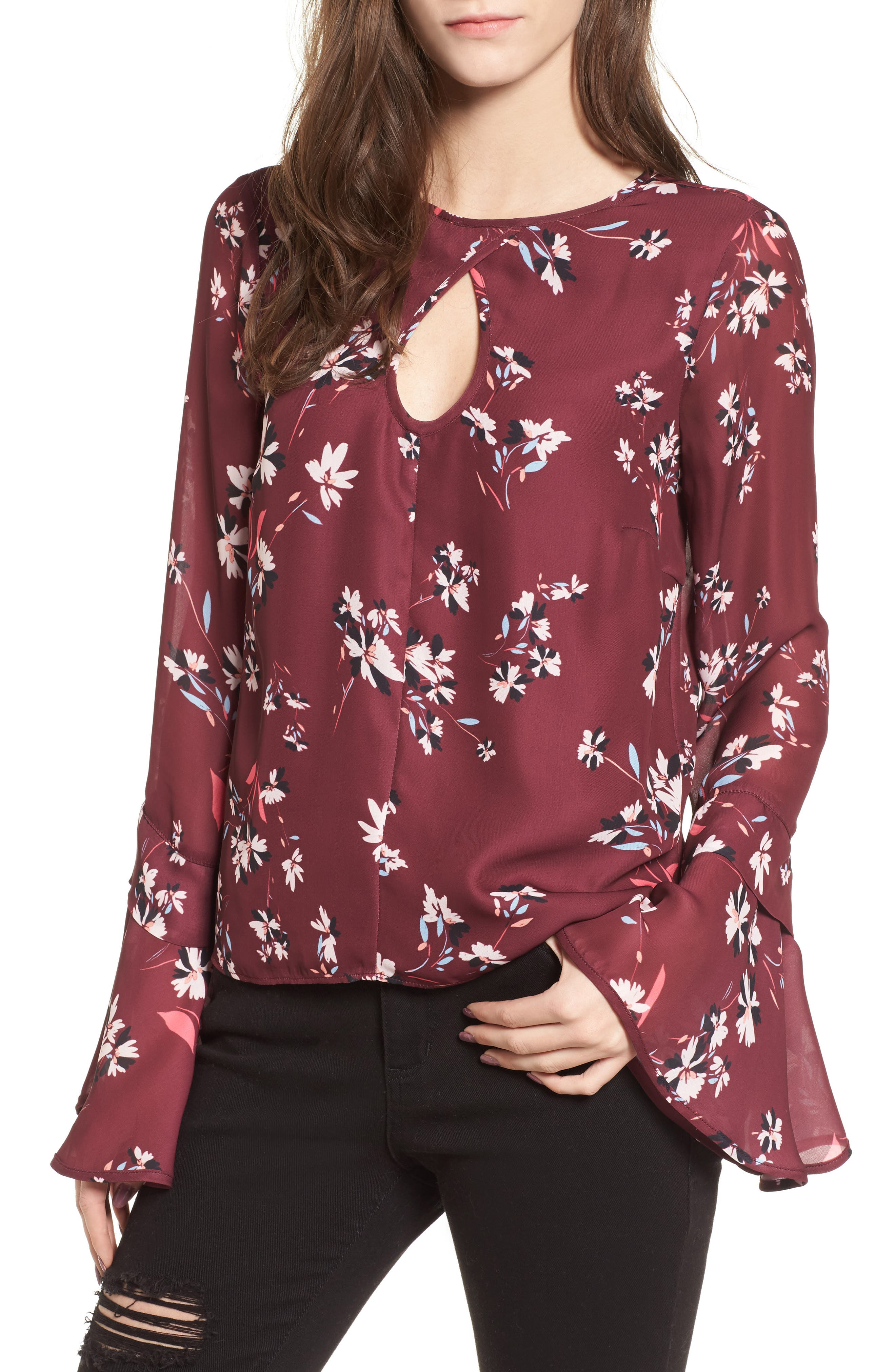 Sonoma Bell Sleeve Blouse,                         Main,                         color, Lotus