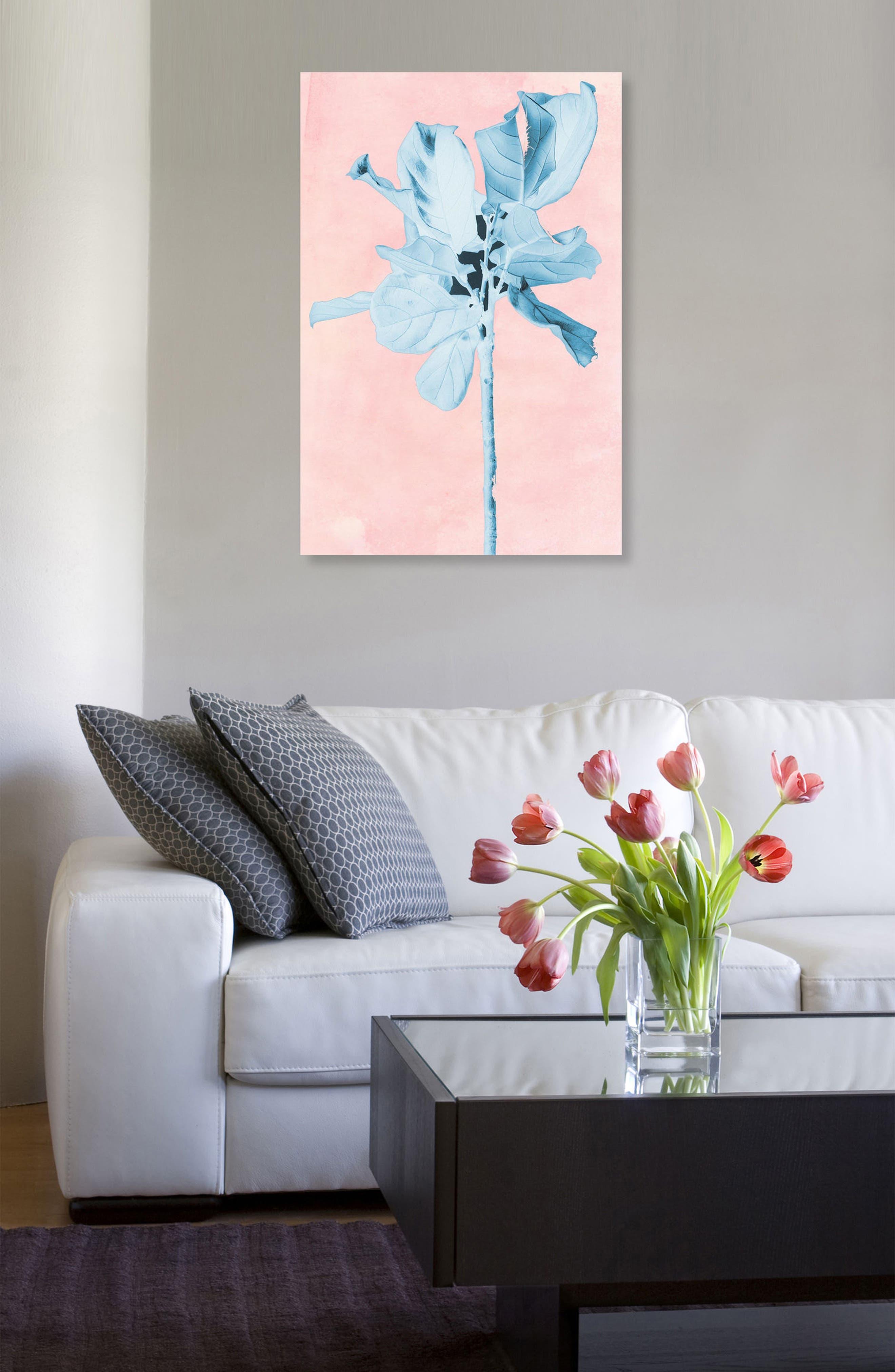 Alternate Image 2  - Oliver Gal Fig Tree Leafy Blue Canvas Wall Art