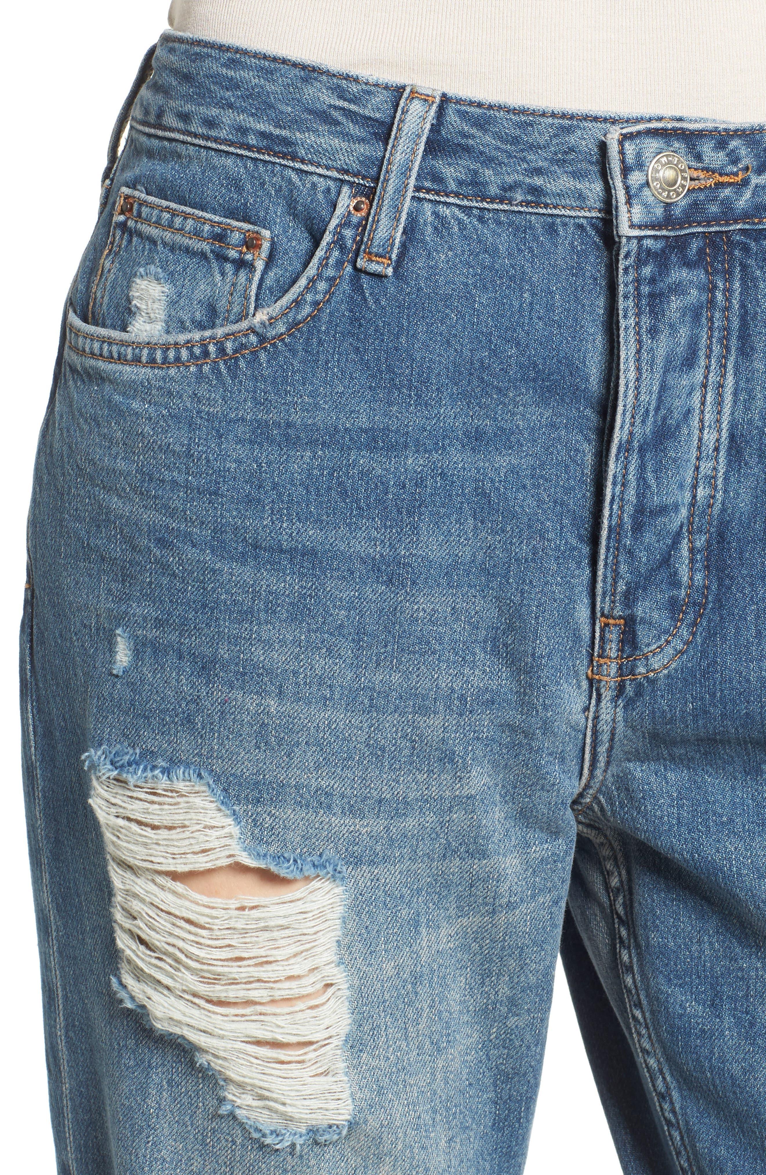 Alternate Image 4  - Topshop Hayden Super Ripped Boyfriend Jeans