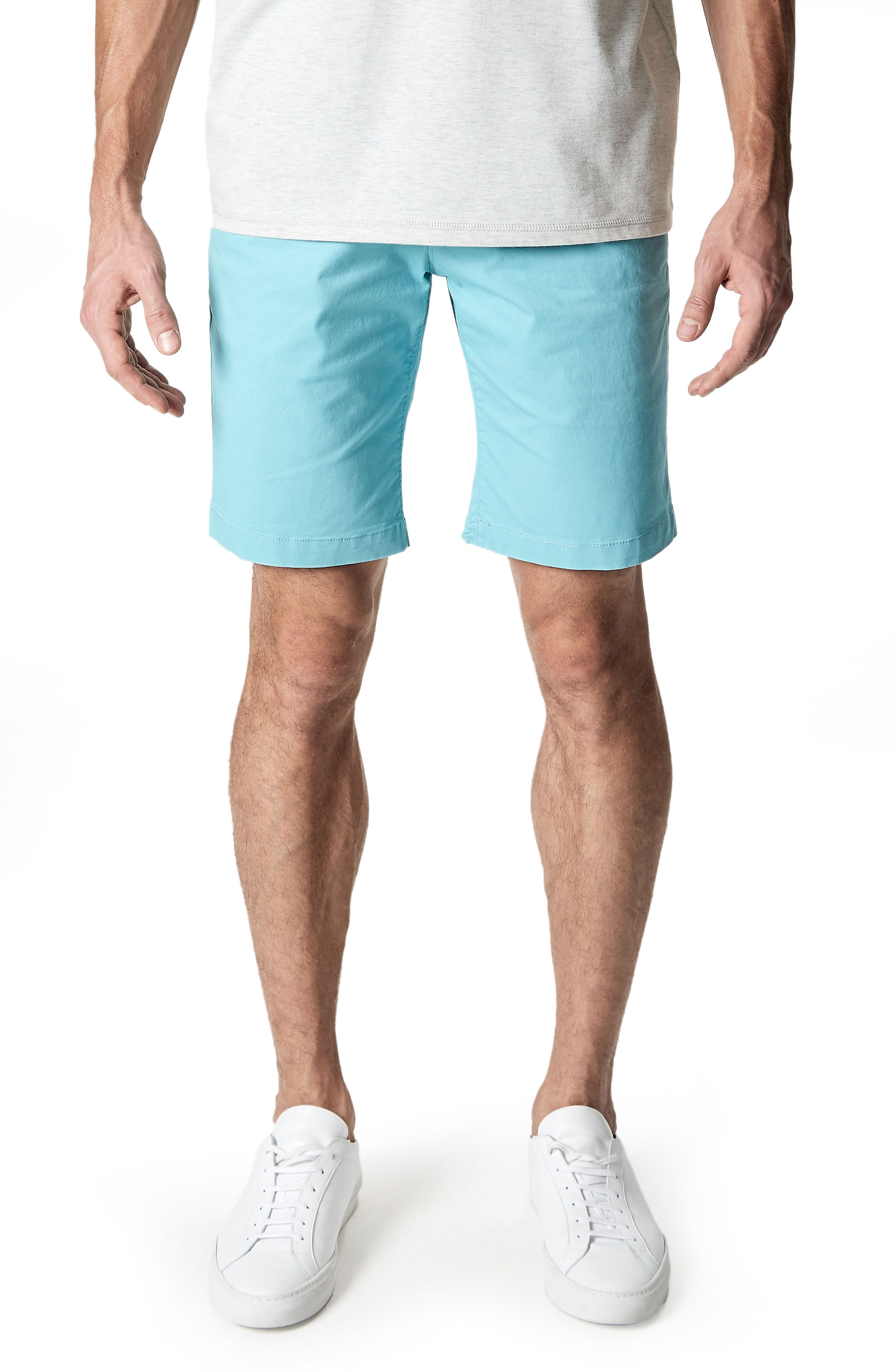 Slim Fit Brushed Twill Shorts,                         Main,                         color, Dusty Blue