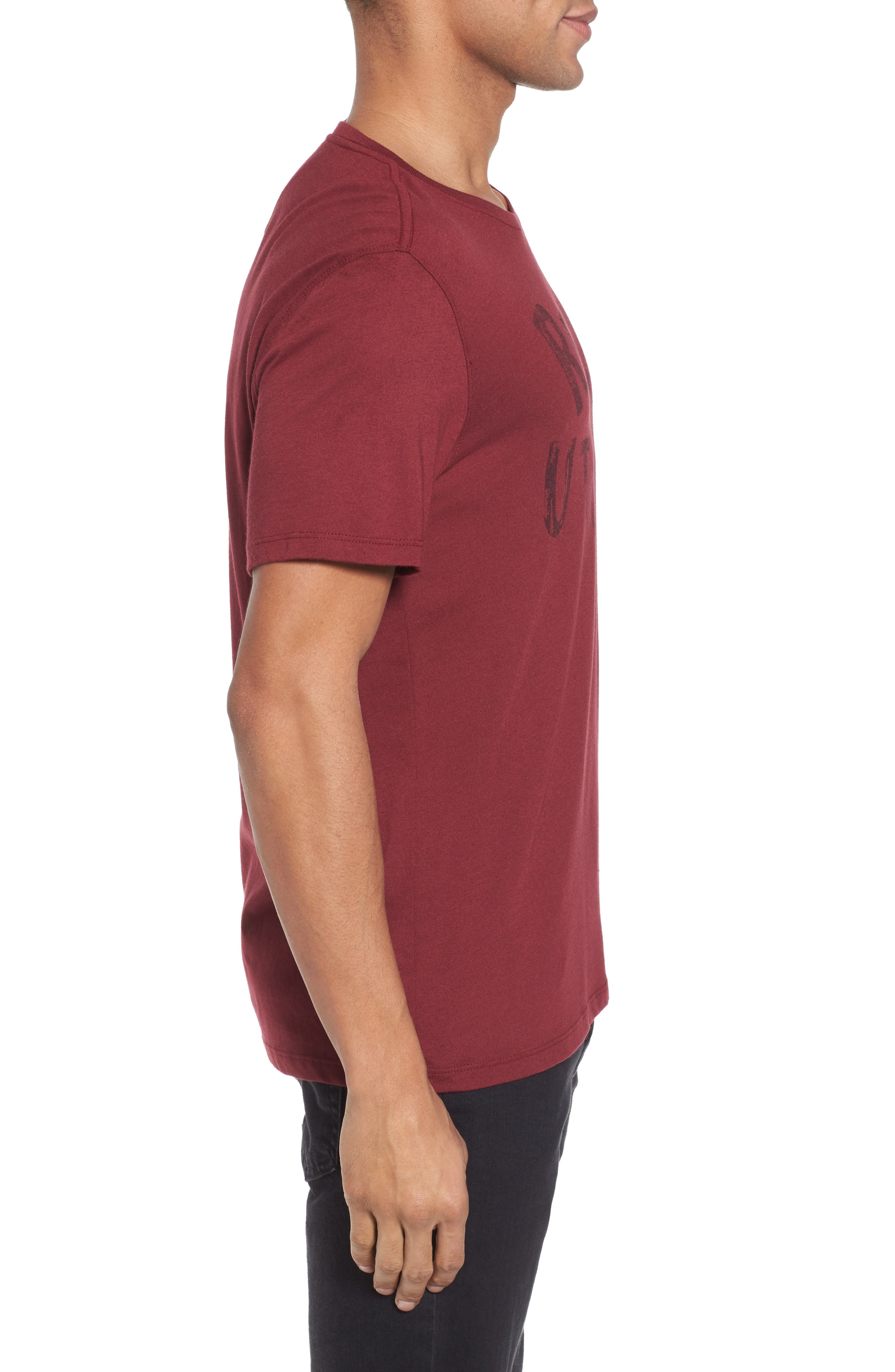 Revolution Graphic T-Shirt,                             Alternate thumbnail 3, color,                             Oxblood