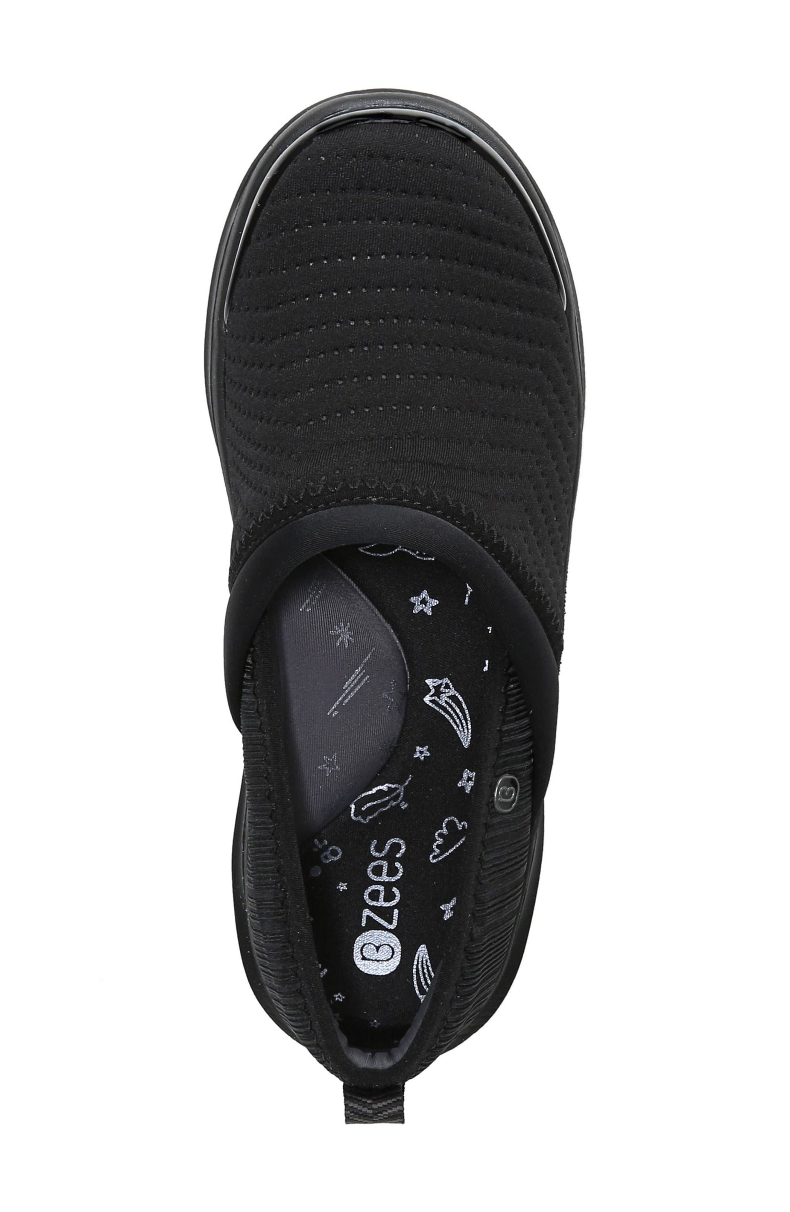 Coco Slip-On Sneaker,                             Alternate thumbnail 5, color,                             Black Fabric