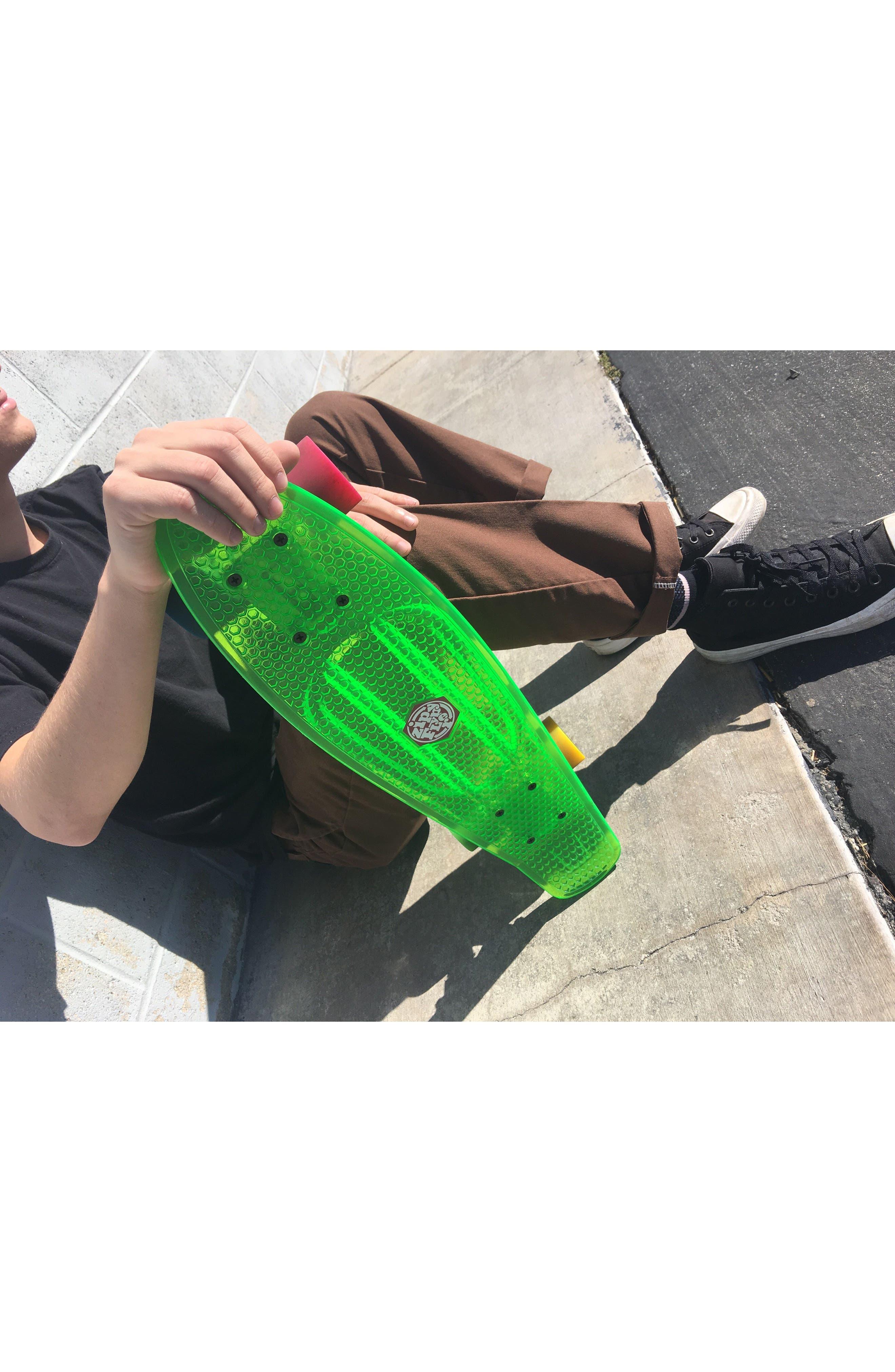 Translucent Skateboard,                             Alternate thumbnail 3, color,                             Green