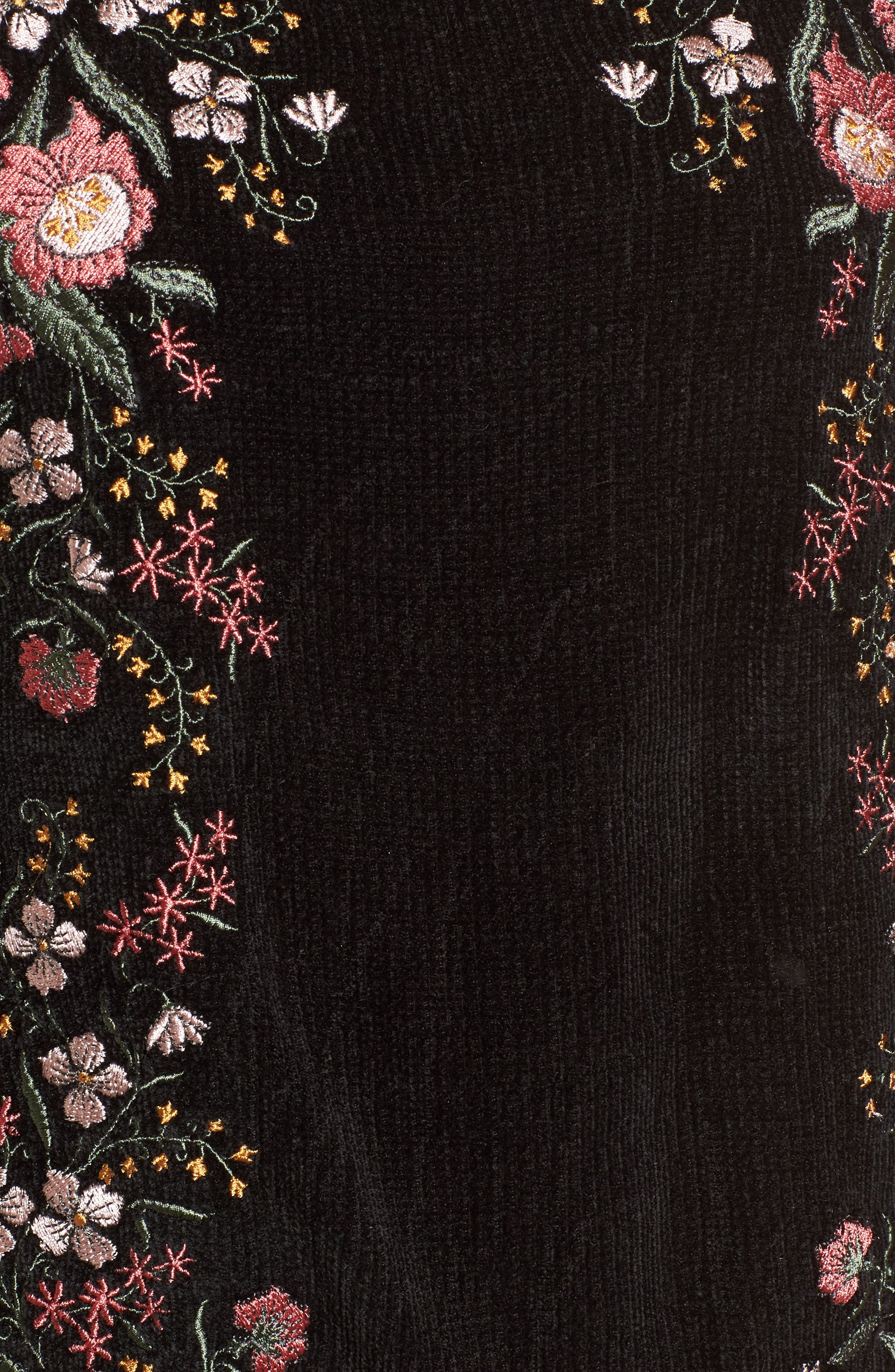 Ruthie Embroidered Sweater,                             Alternate thumbnail 5, color,                             Black