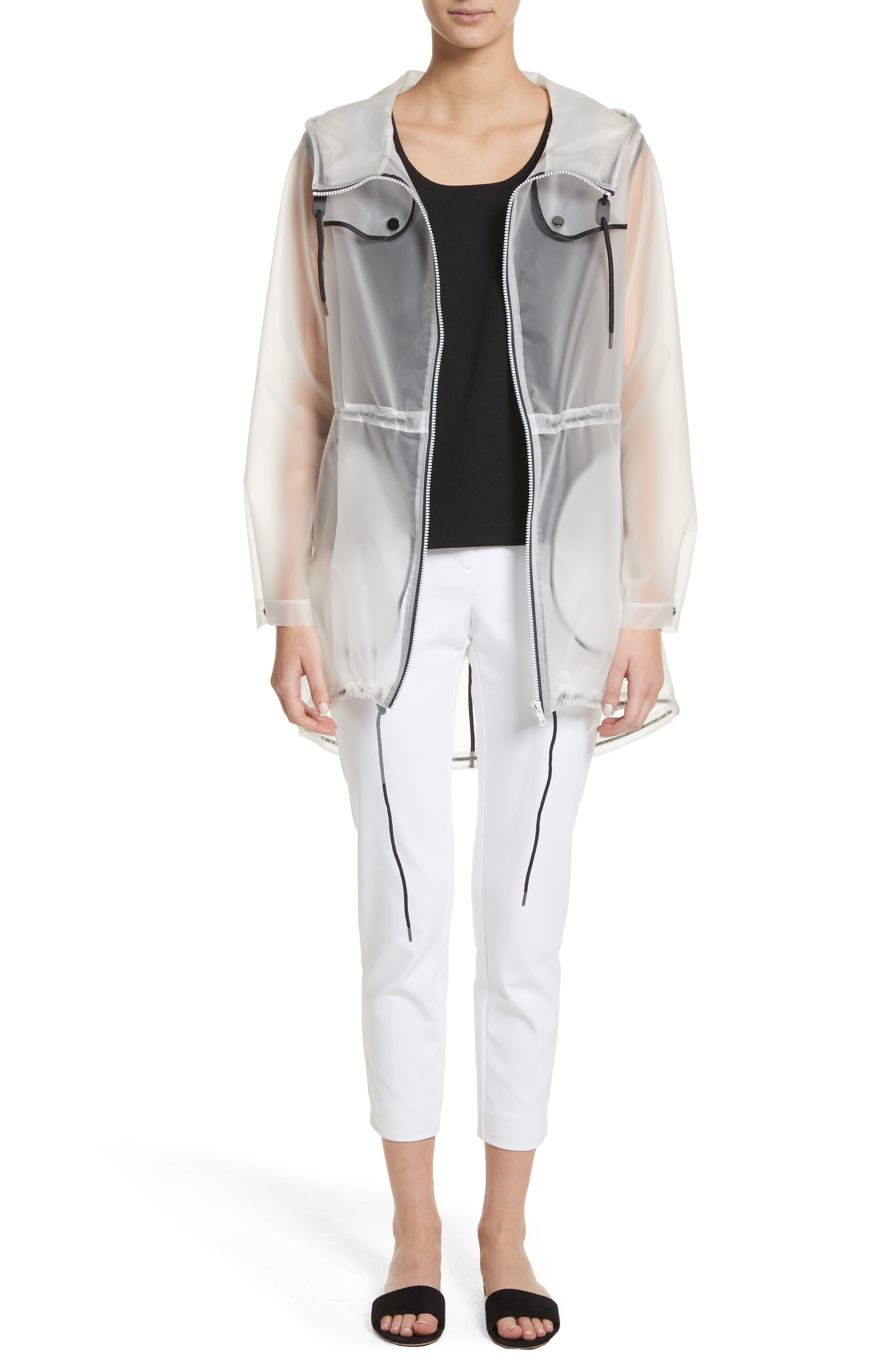 Alternate Image 7  - St. John Collection Clear Hooded Raincoat