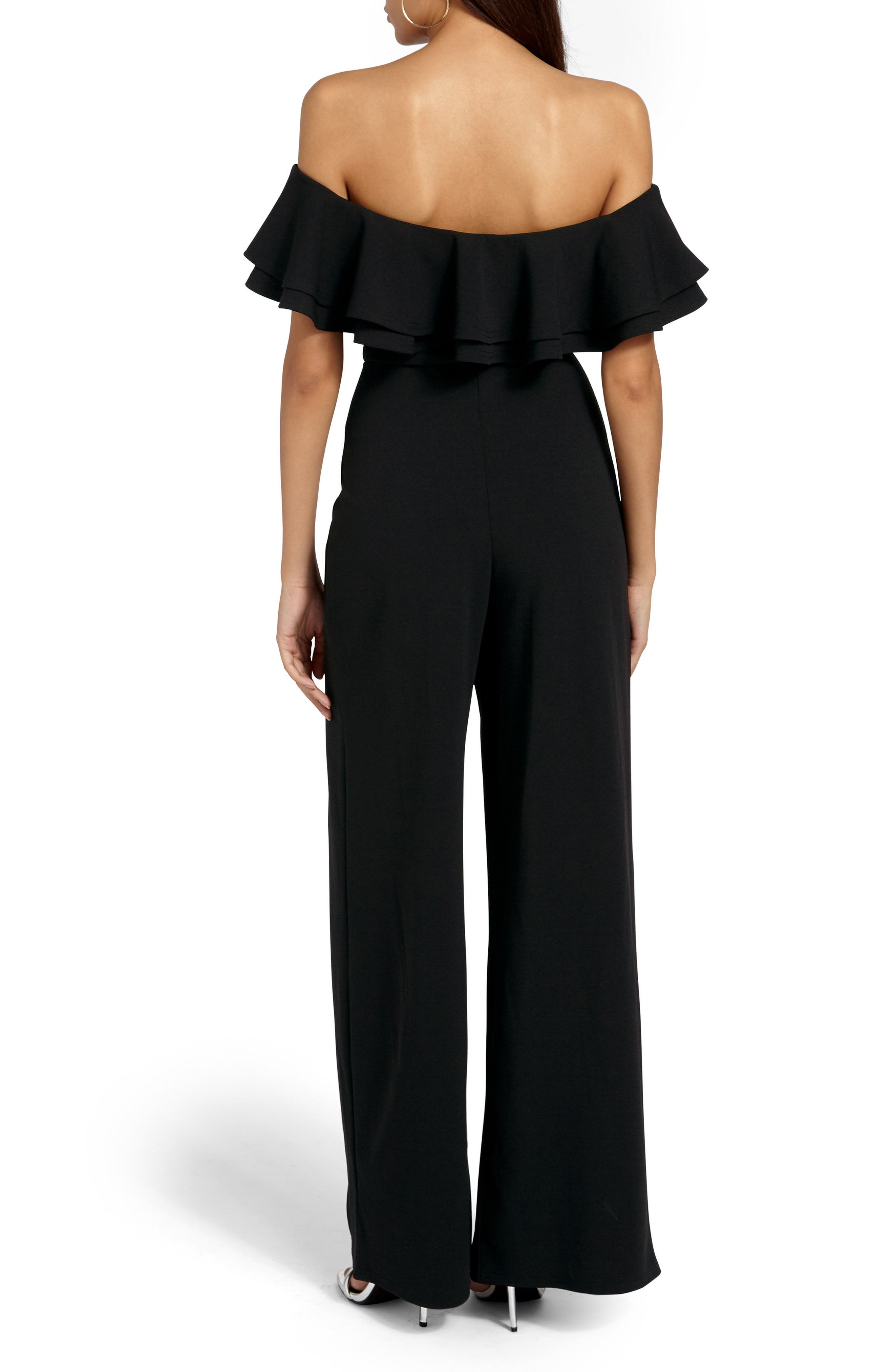 Alternate Image 2  - Missguided Bardot Off the Shoulder Jumpsuit