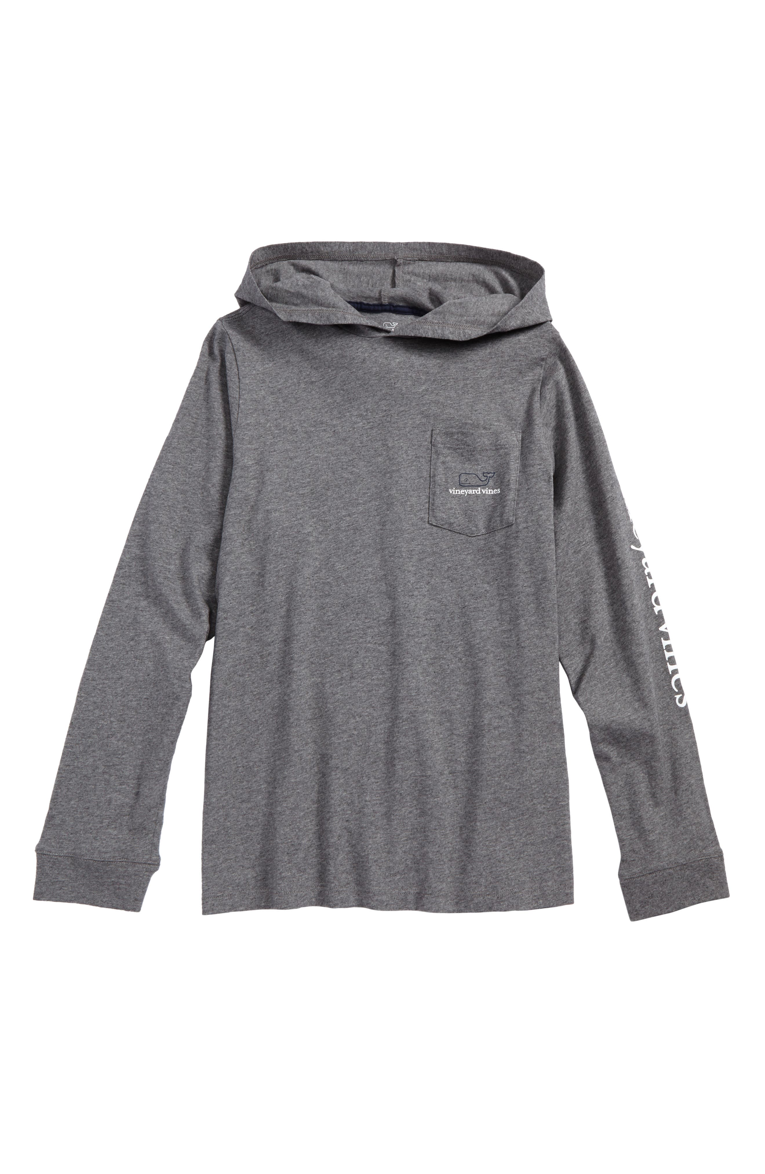vineyard vines Whale Pocket Hooded T-Shirt (Big Boys)