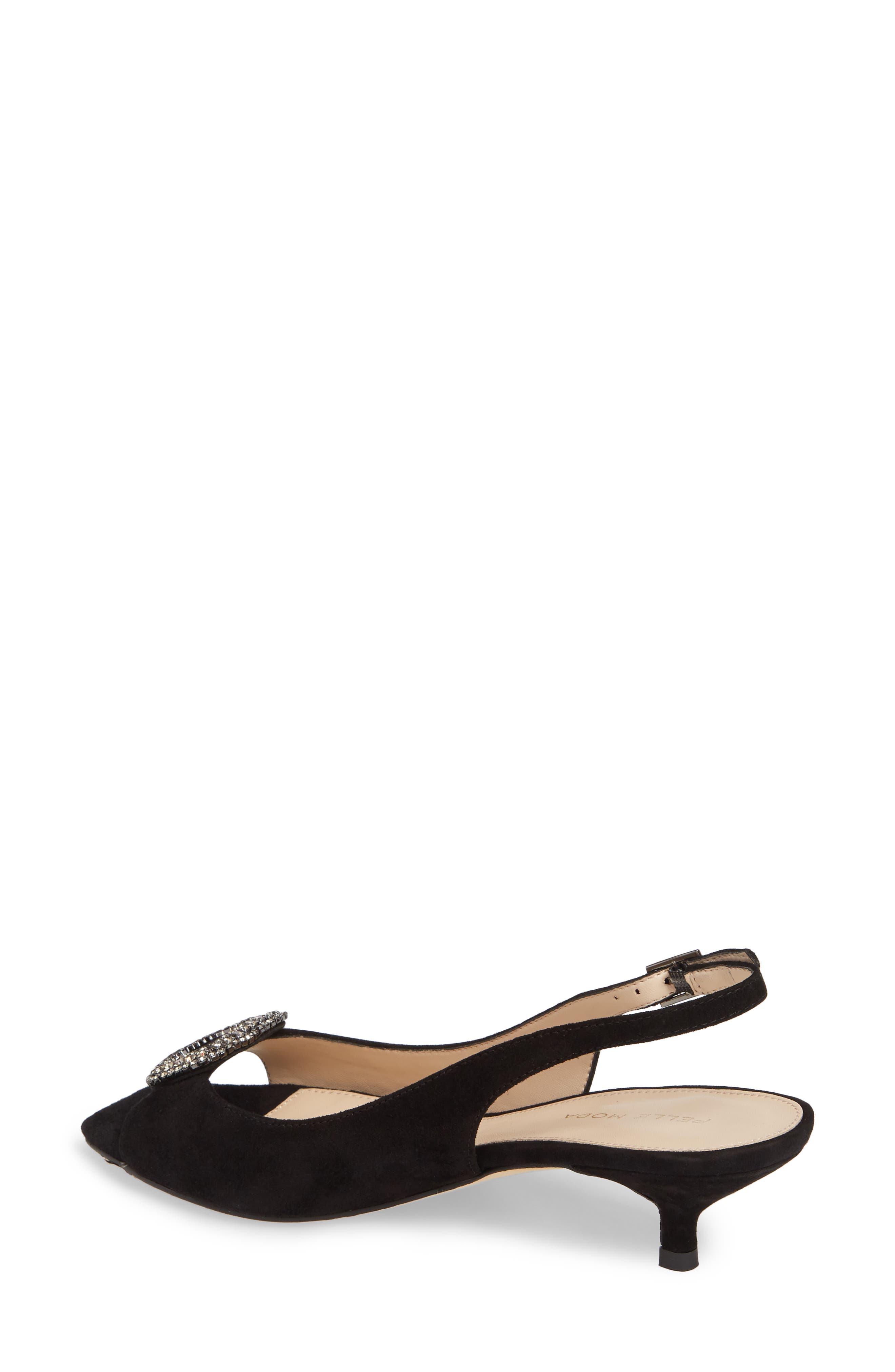 Fresca Slingback Sandal,                             Alternate thumbnail 2, color,                             Black Suede