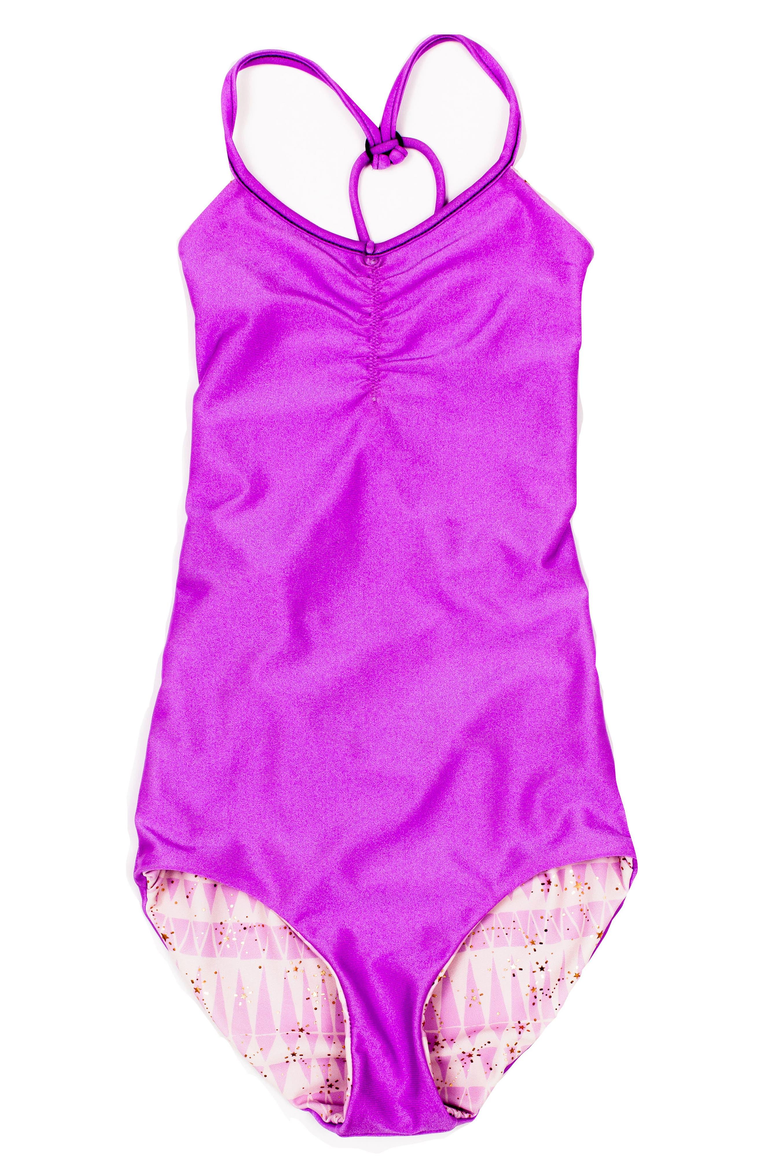 Catalinakini One-Piece Reversible Swimsuit,                             Alternate thumbnail 2, color,                             Lavender