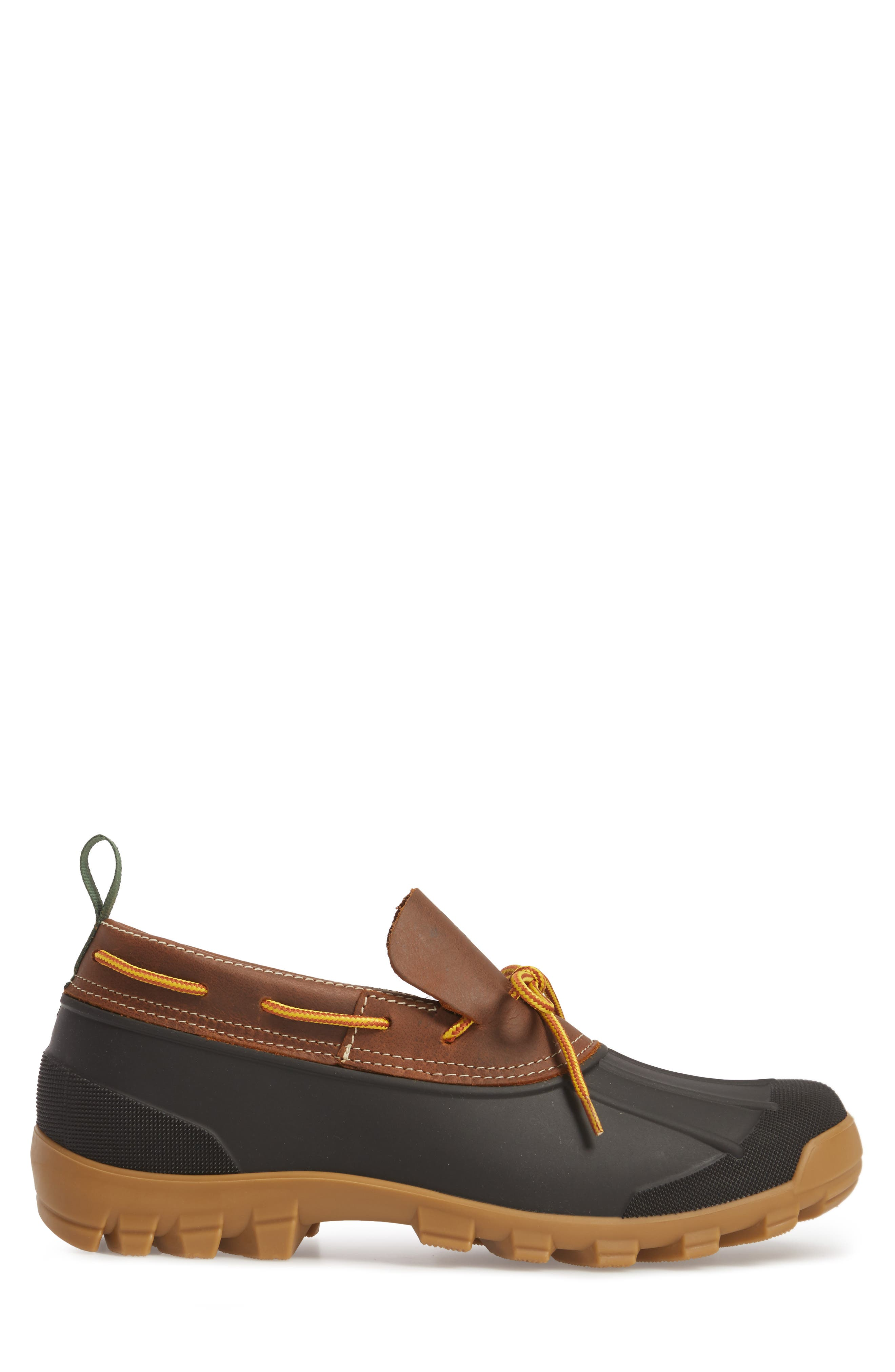 Yukon Short Boot,                             Alternate thumbnail 3, color,                             Dark Brown Leather