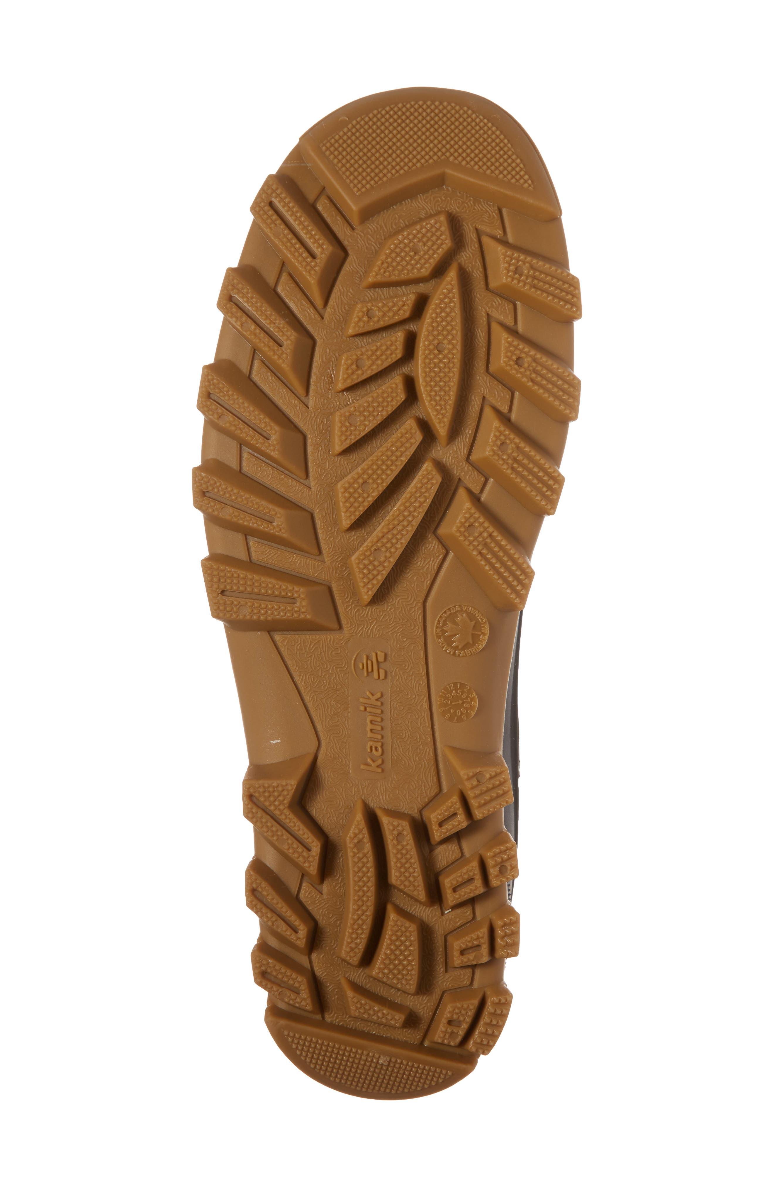 Yukon Chelsea Boot,                             Alternate thumbnail 6, color,                             Dark Brown Leather