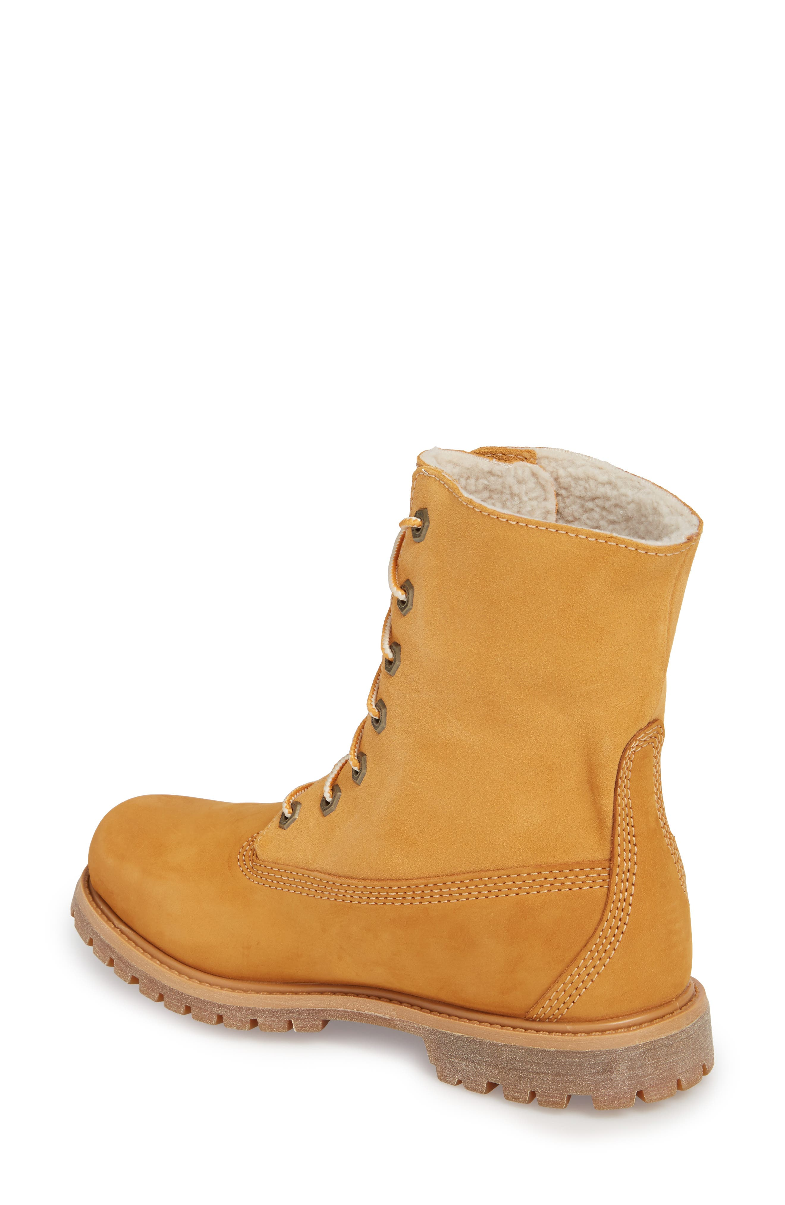 Authentic Waterproof Teddy Fleece Lined Winter Boot,                             Alternate thumbnail 2, color,                             Wheat