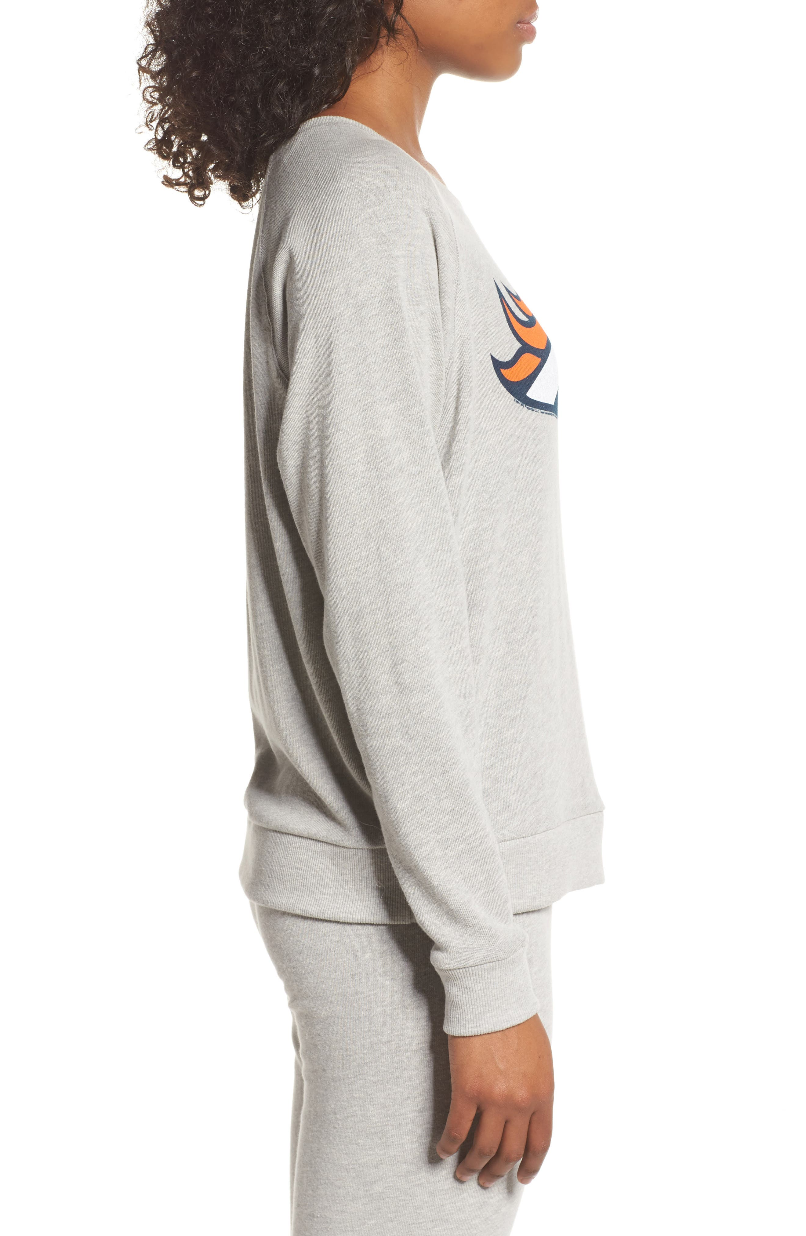 NFL Denver Broncos Hacci Sweatshirt,                             Alternate thumbnail 3, color,                             Dove Heather Grey