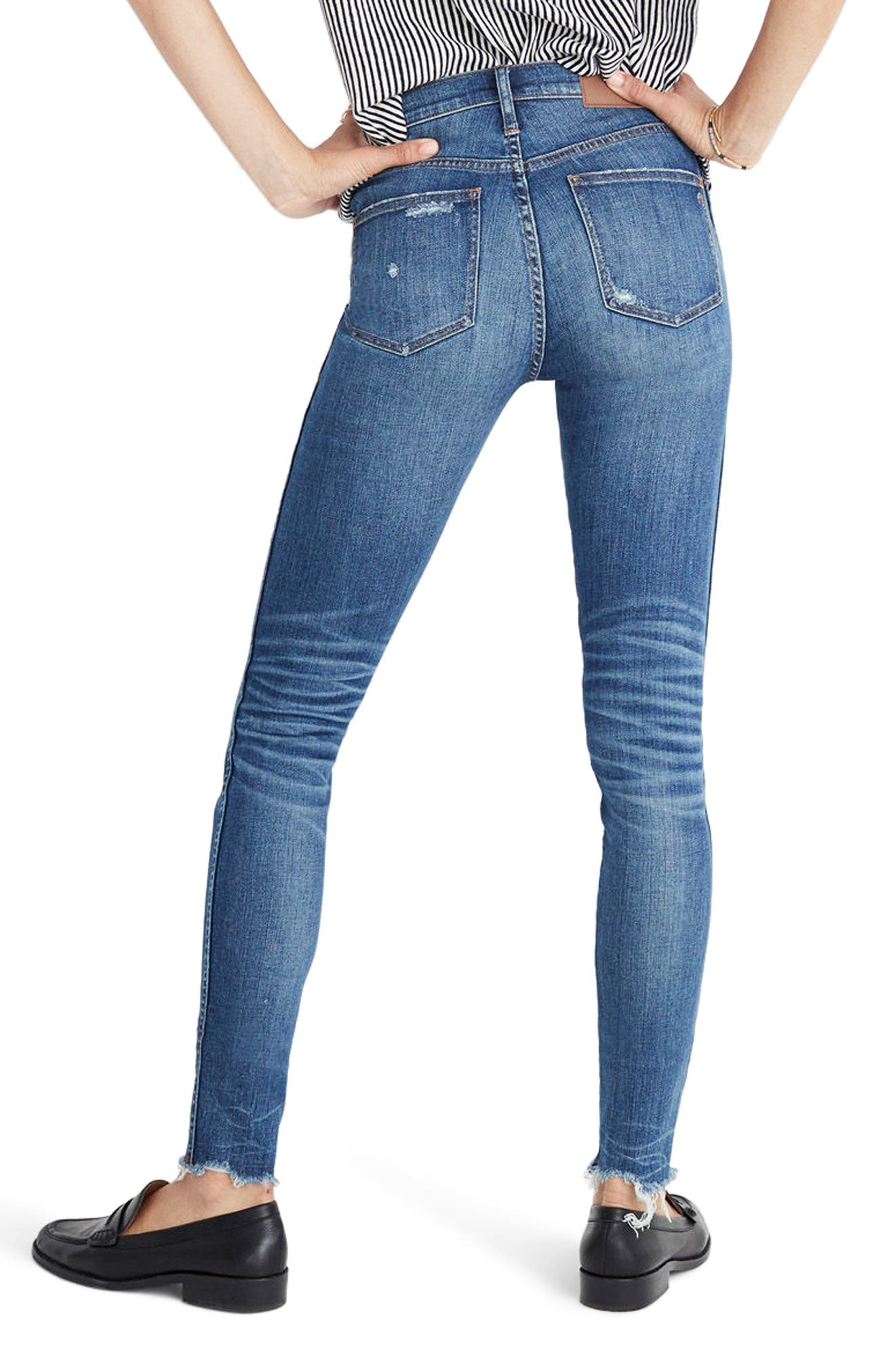 9-Inch High Waist Ankle Skinny Jeans,                             Alternate thumbnail 2, color,                             Allegra