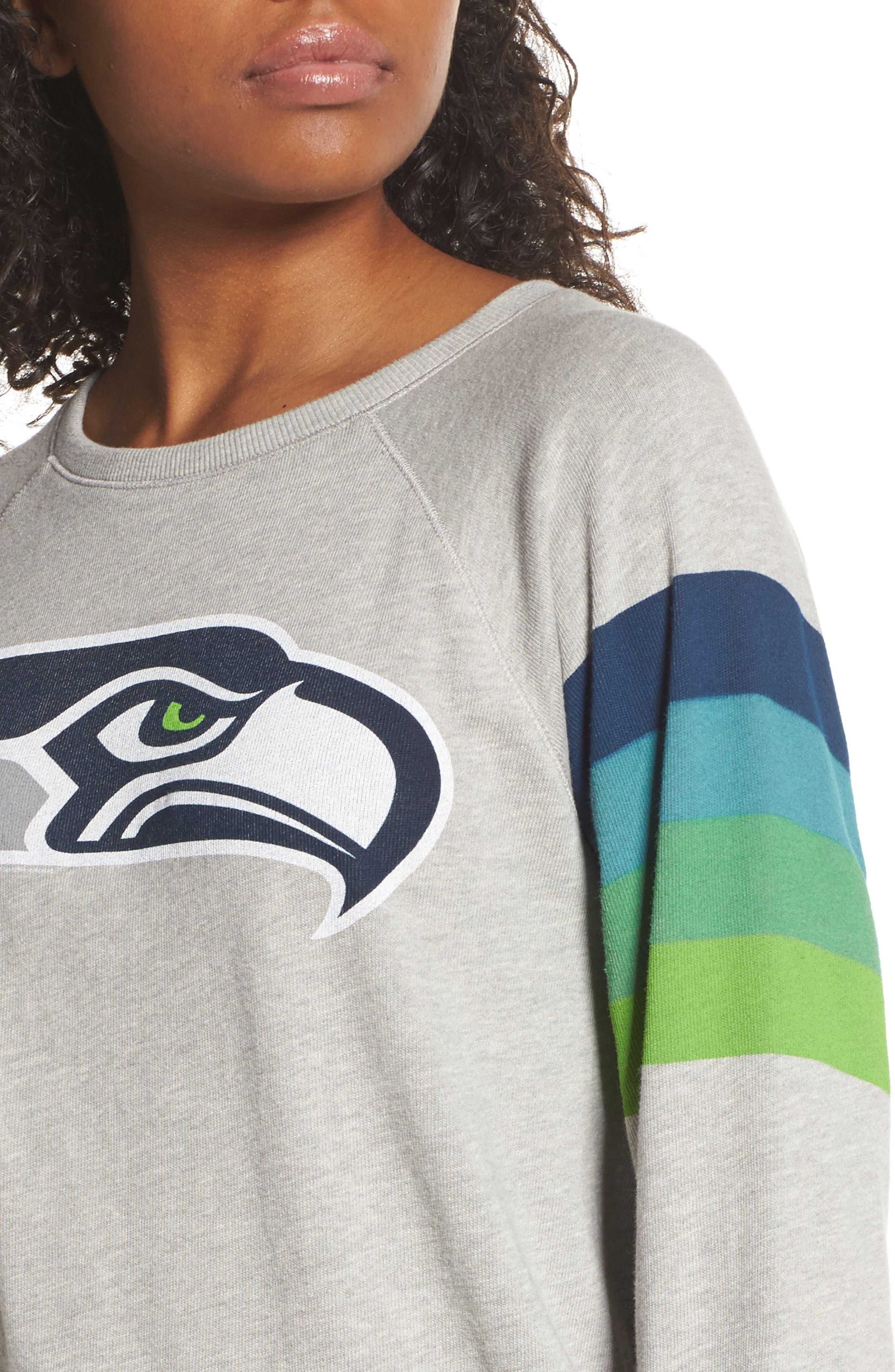 NFL Seattle Seahawks Hacci Sweatshirt,                             Alternate thumbnail 4, color,                             Dove Heather Grey