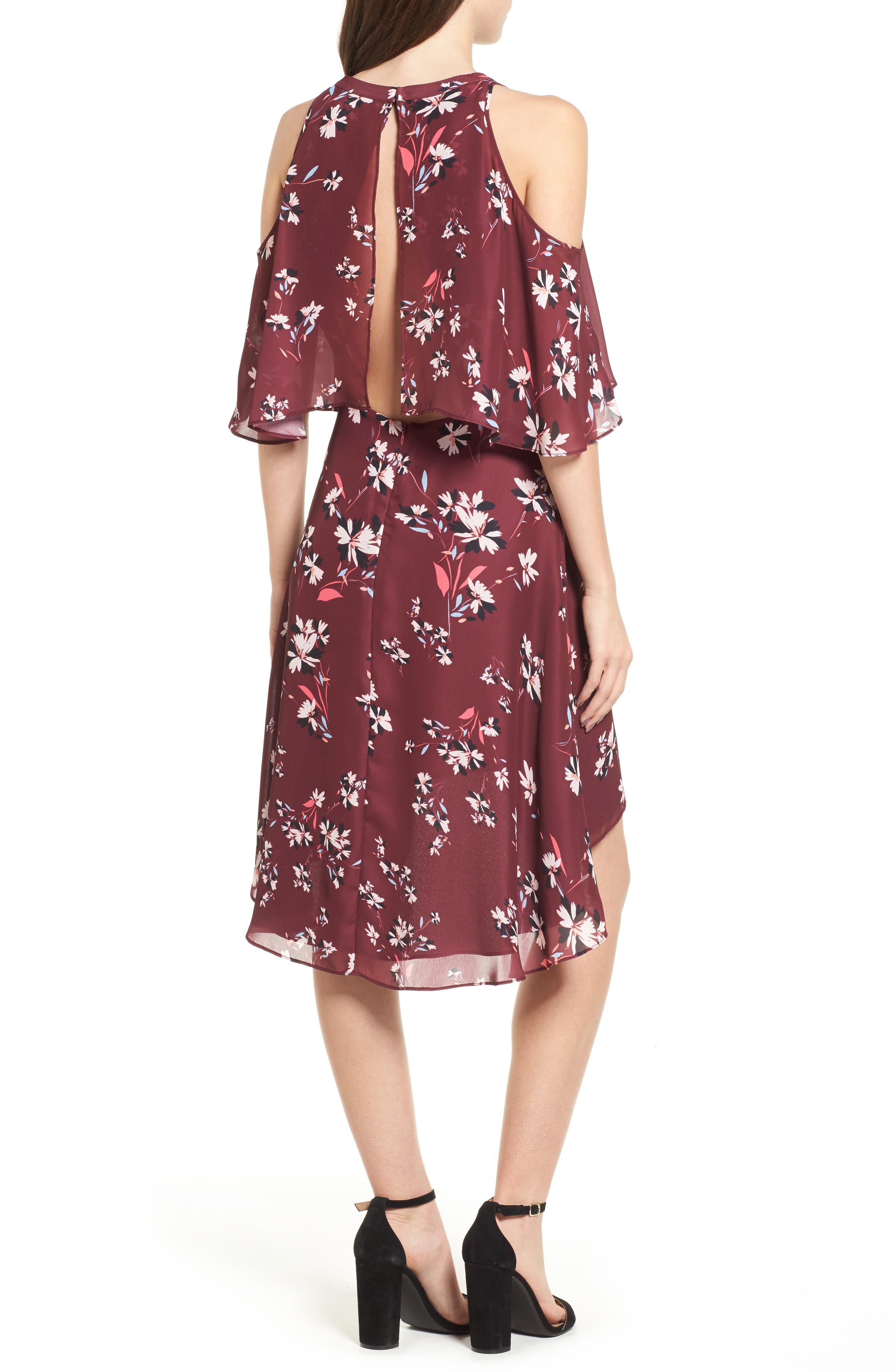 Mia Cold Shoulder Dress,                             Alternate thumbnail 2, color,                             Lotus