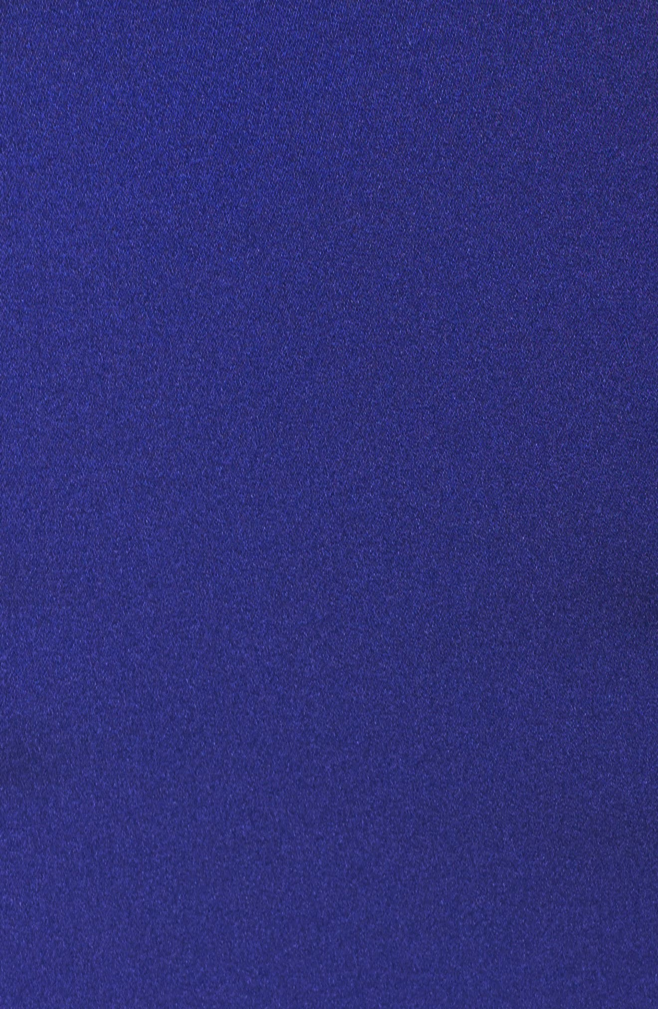 Illusion Neck Mermaid Gown,                             Alternate thumbnail 5, color,                             Cobalt