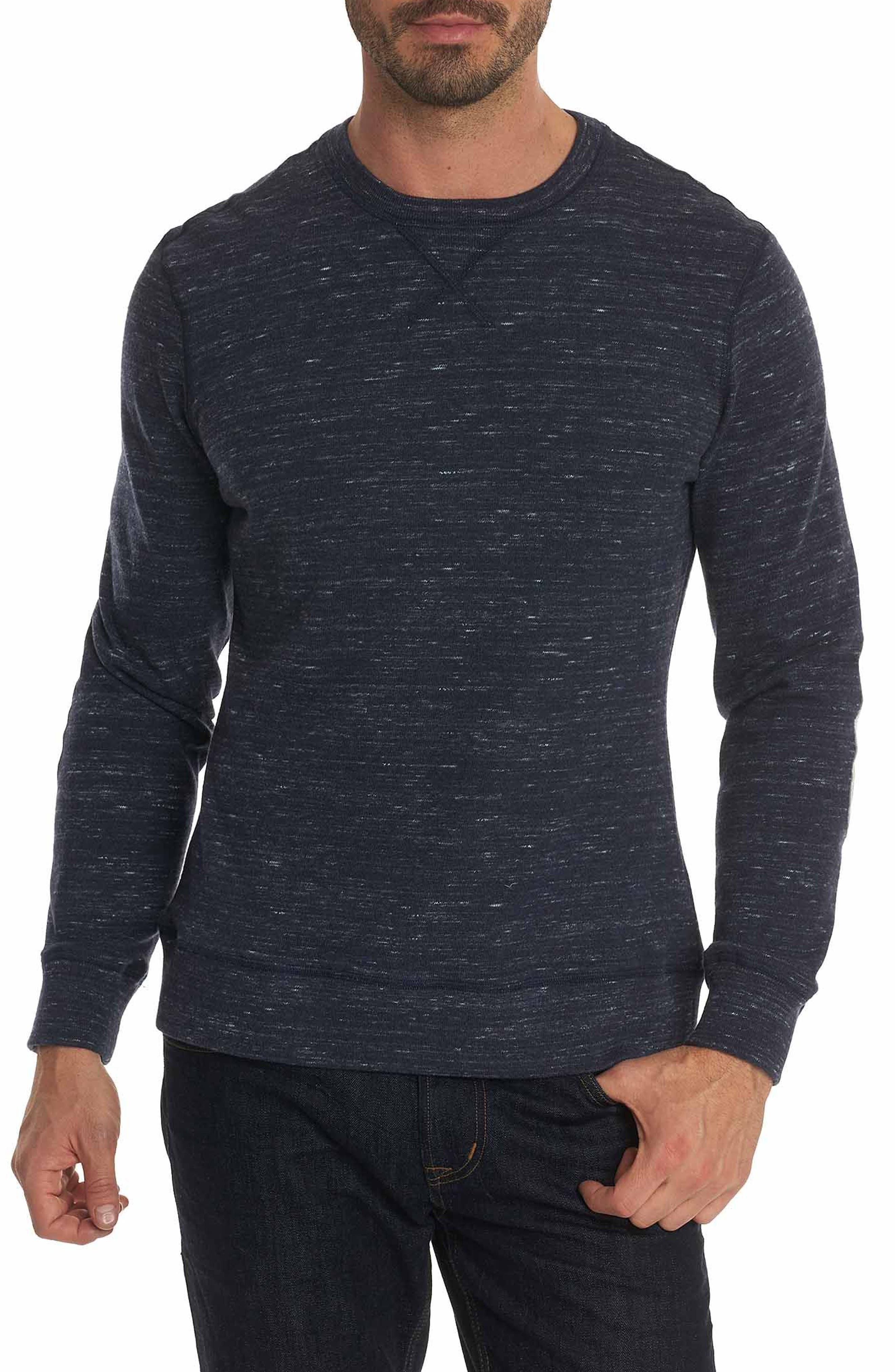 Endurance Elbow Patch Sweatshirt,                         Main,                         color, Heather Navy