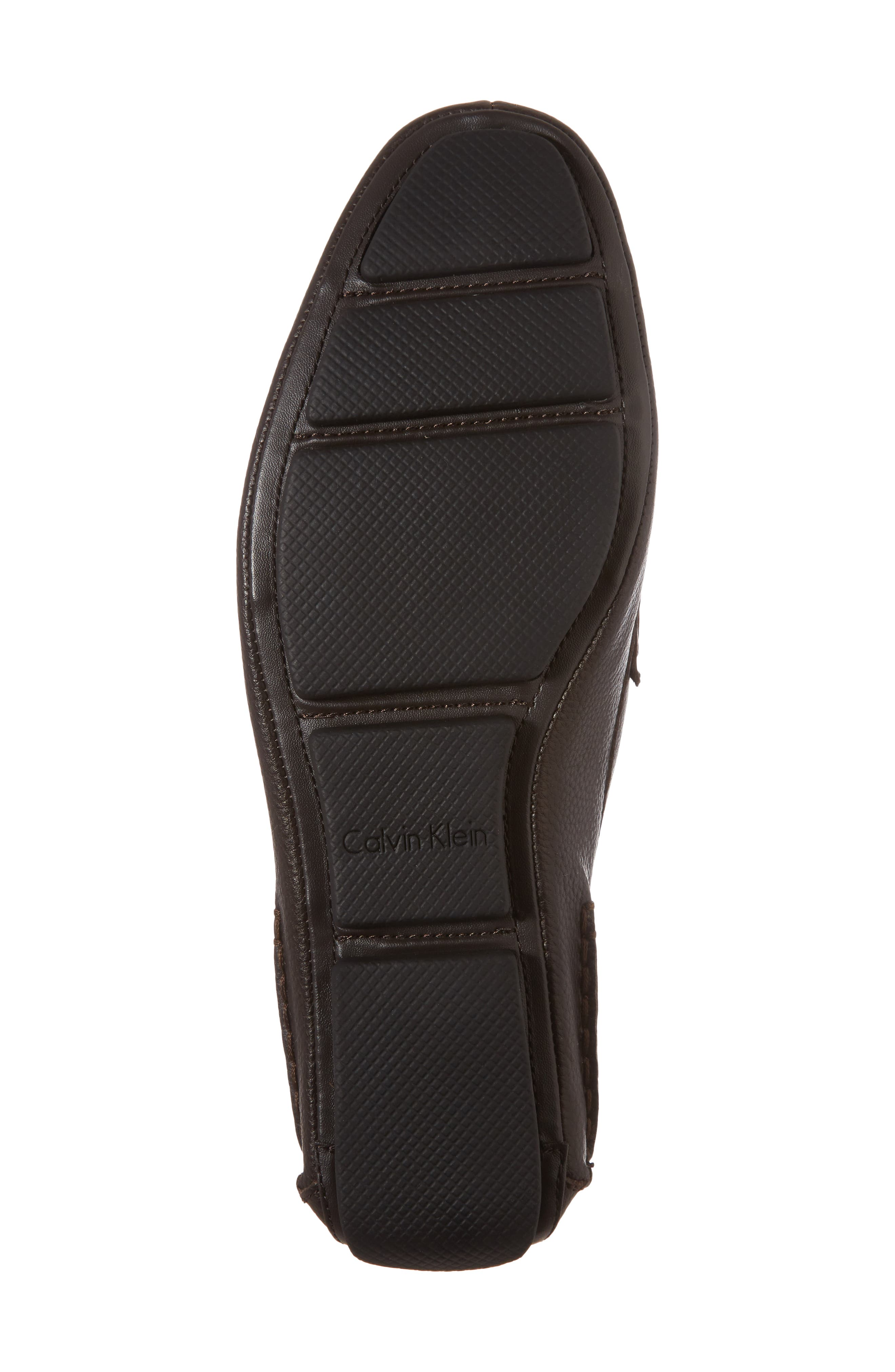 Mikos Driving Shoe,                             Alternate thumbnail 6, color,                             Dark Brown Leather