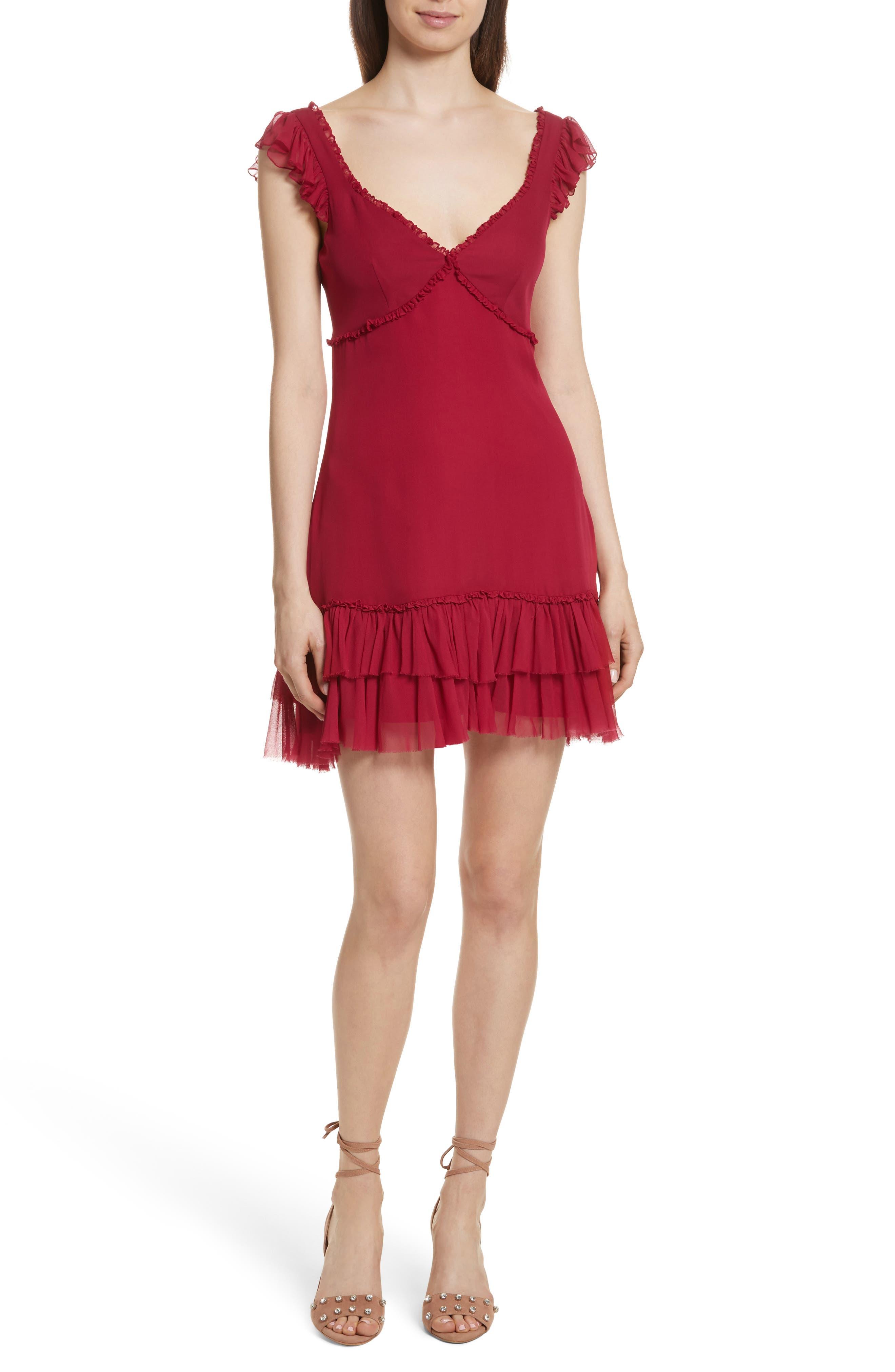 Cinq à Sept Frankie Ruffle Silk Dress