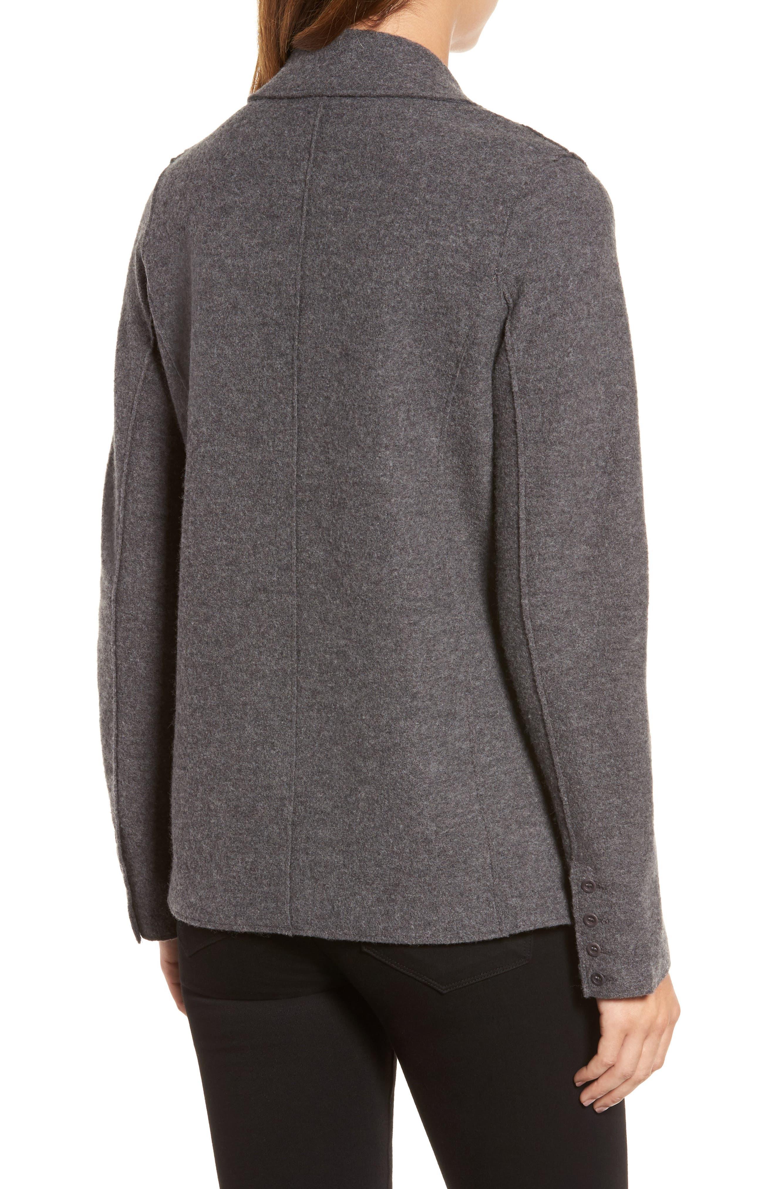 Notch Collar Merino Wool Jacket,                             Alternate thumbnail 2, color,                             Ash