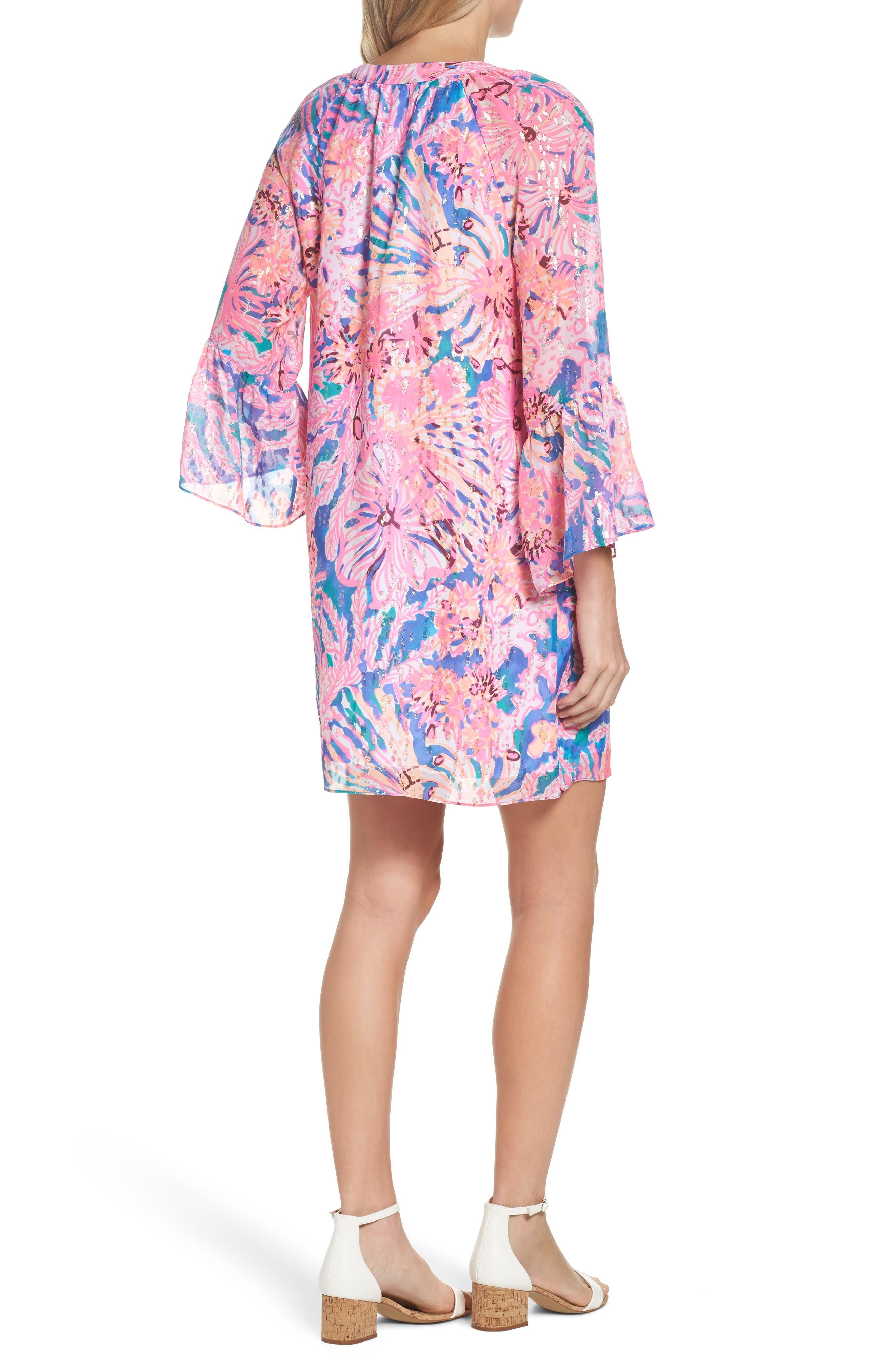Matilda Tunic Dress,                             Alternate thumbnail 2, color,                             Multi Swirling Seadream