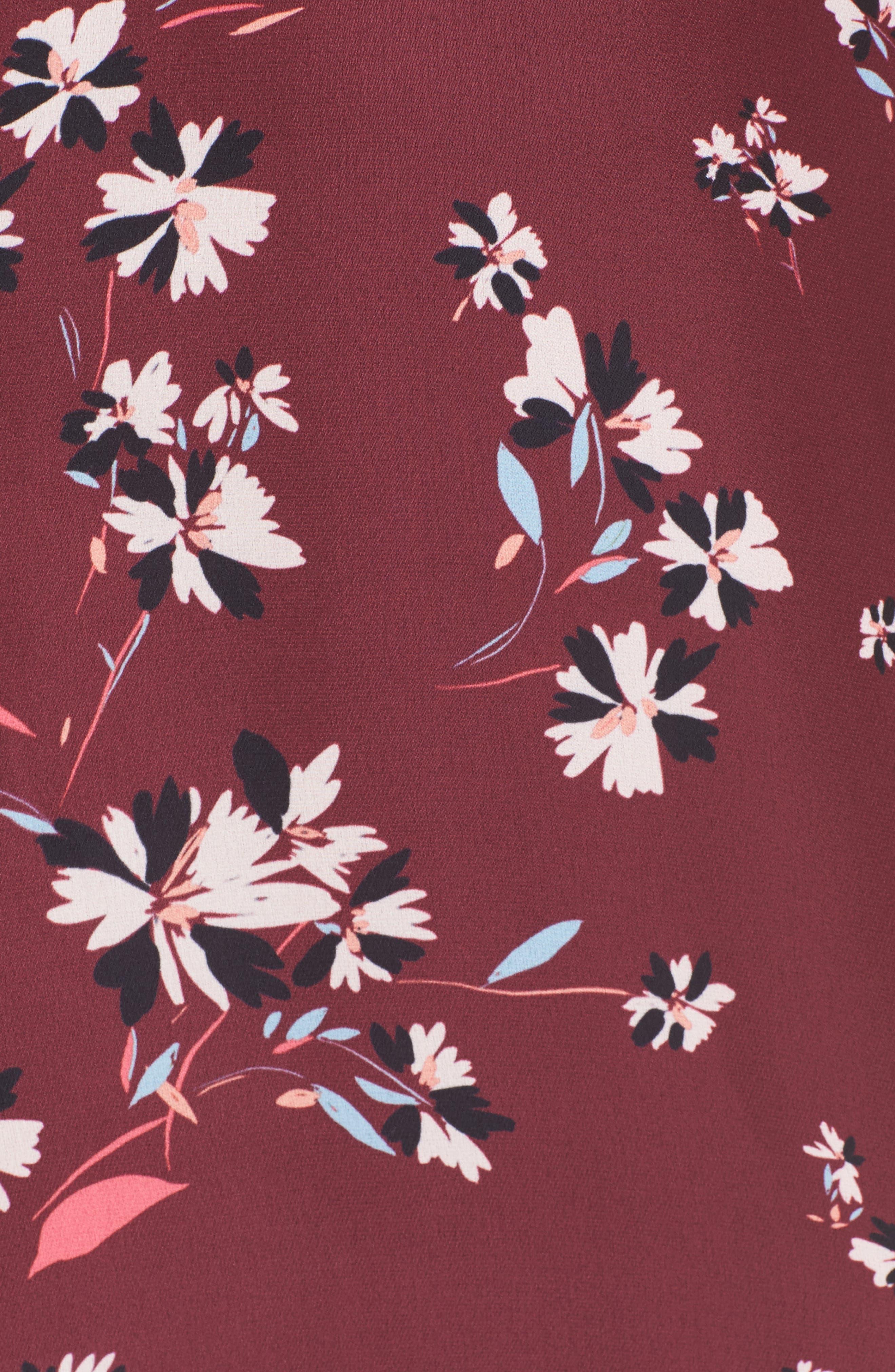 Mia Cold Shoulder Dress,                             Alternate thumbnail 5, color,                             Lotus