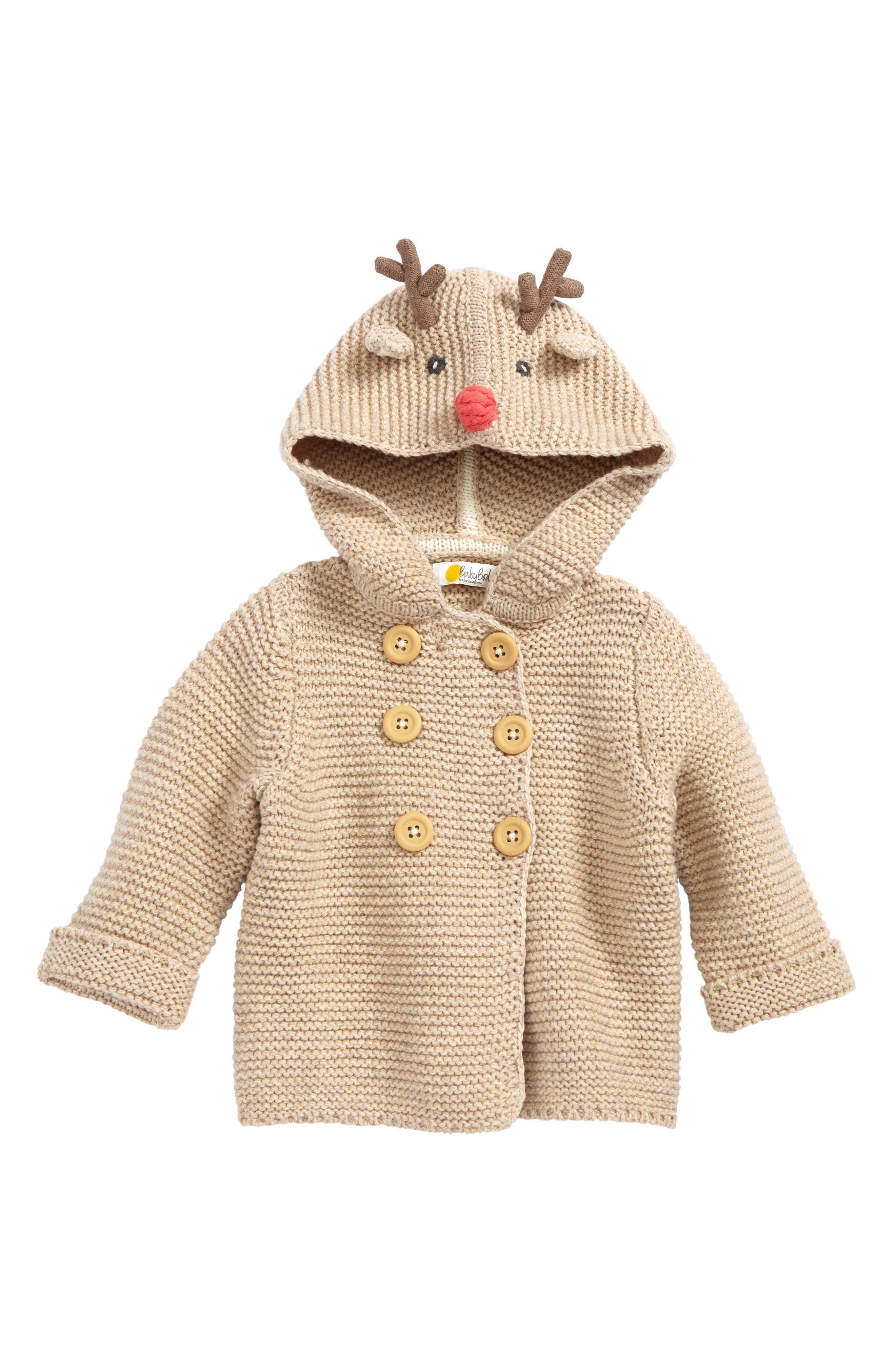 Mini Boden Wild Animal Knit Jacket (Baby Boys & Toddler Boys)