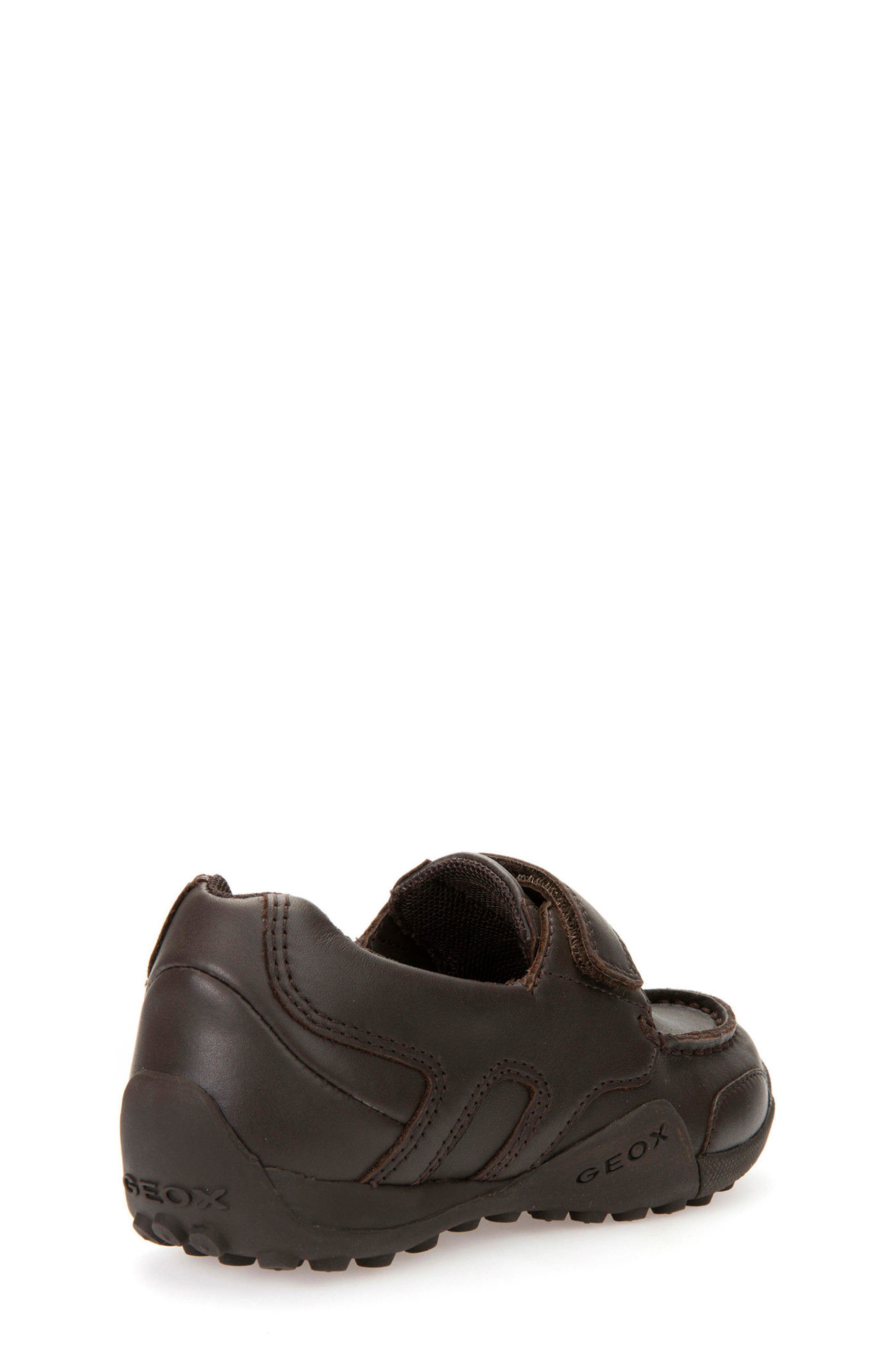 'Snake Moc 2' Leather Loafer,                             Alternate thumbnail 3, color,                             Coffee