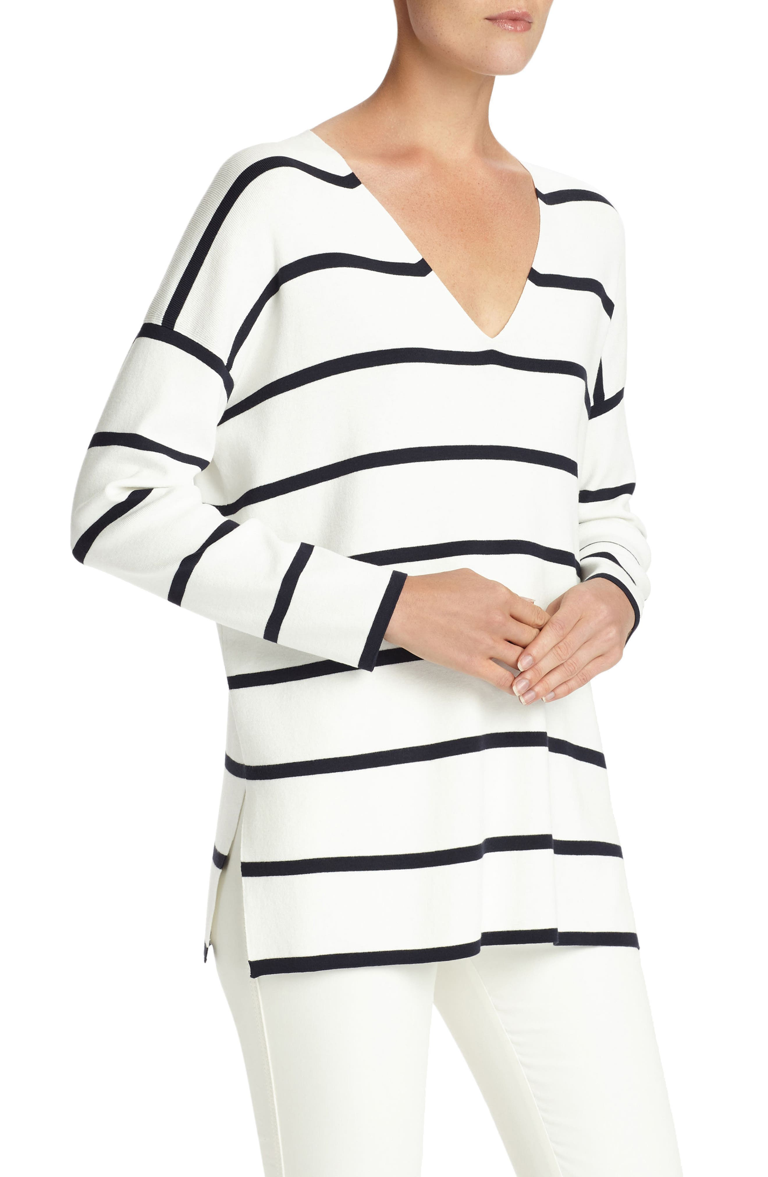 Alternate Image 3  - Lafayette 148 New York Stripe Sweater