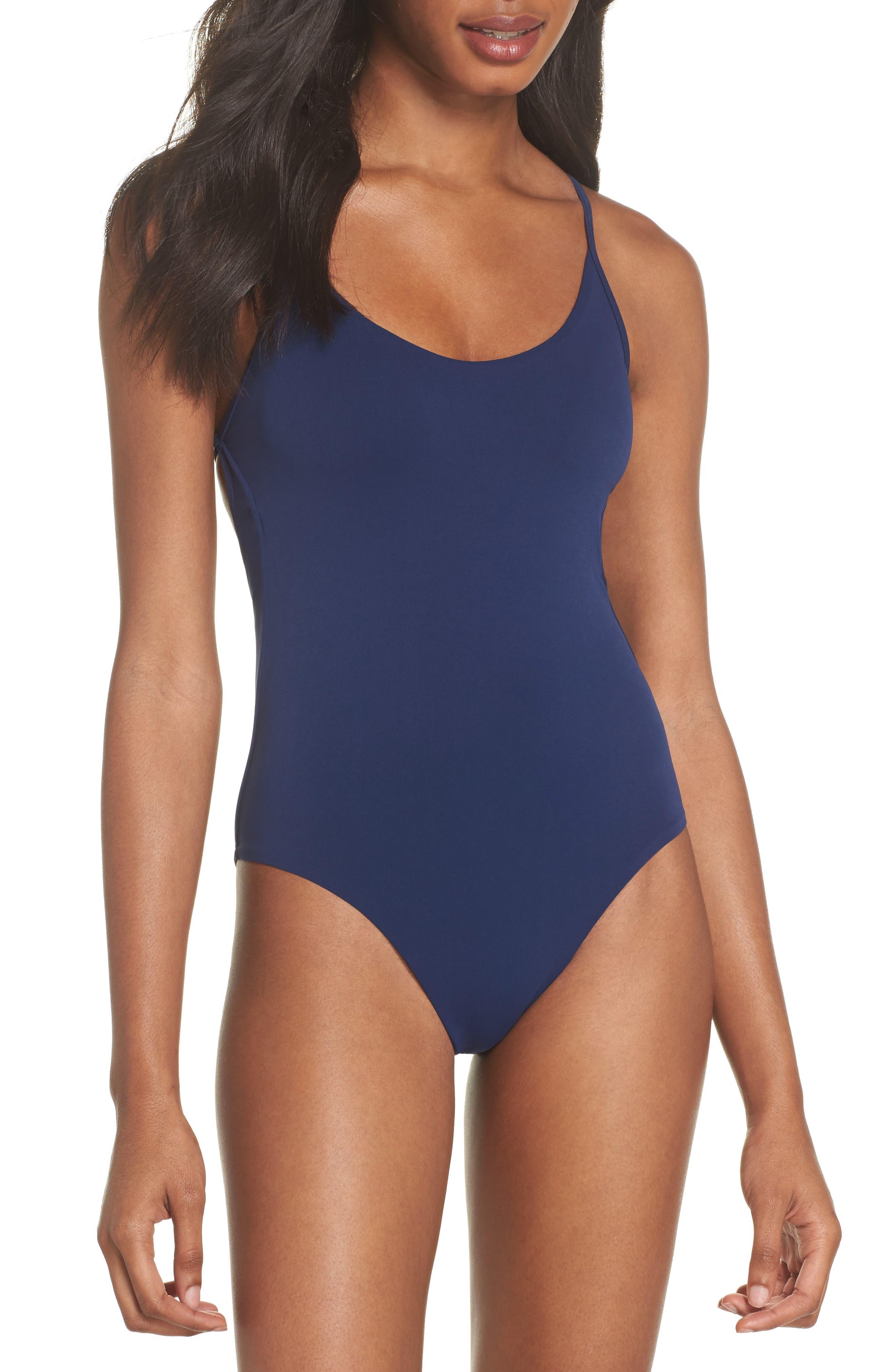 Farrah One-Piece Swimsuit,                             Main thumbnail 1, color,                             Starlight Blue
