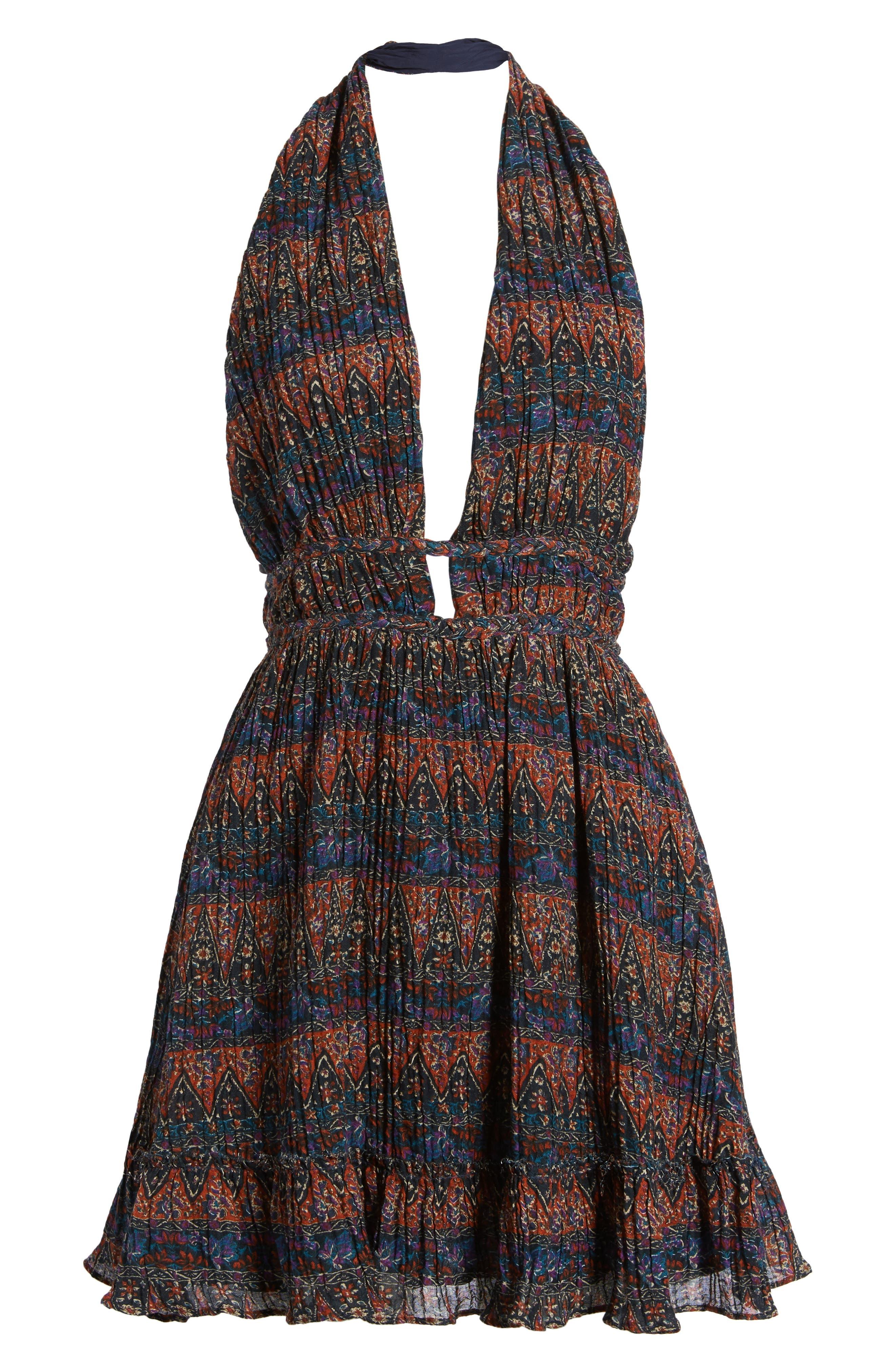 Bali Halter Dress,                             Alternate thumbnail 6, color,                             Dark Multi