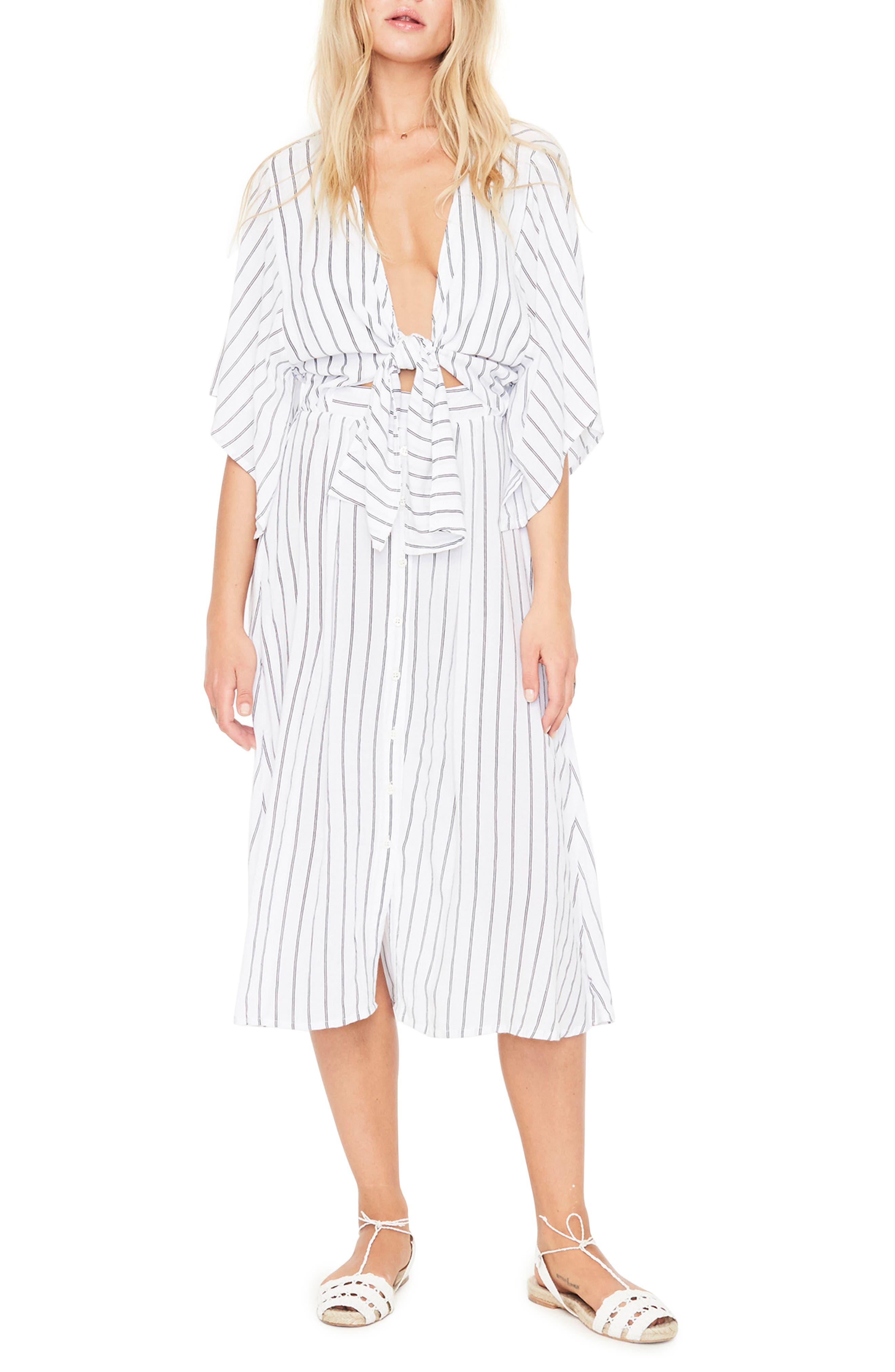 FAITHFULL THE BRAND Massimo Stripe Midi Dress