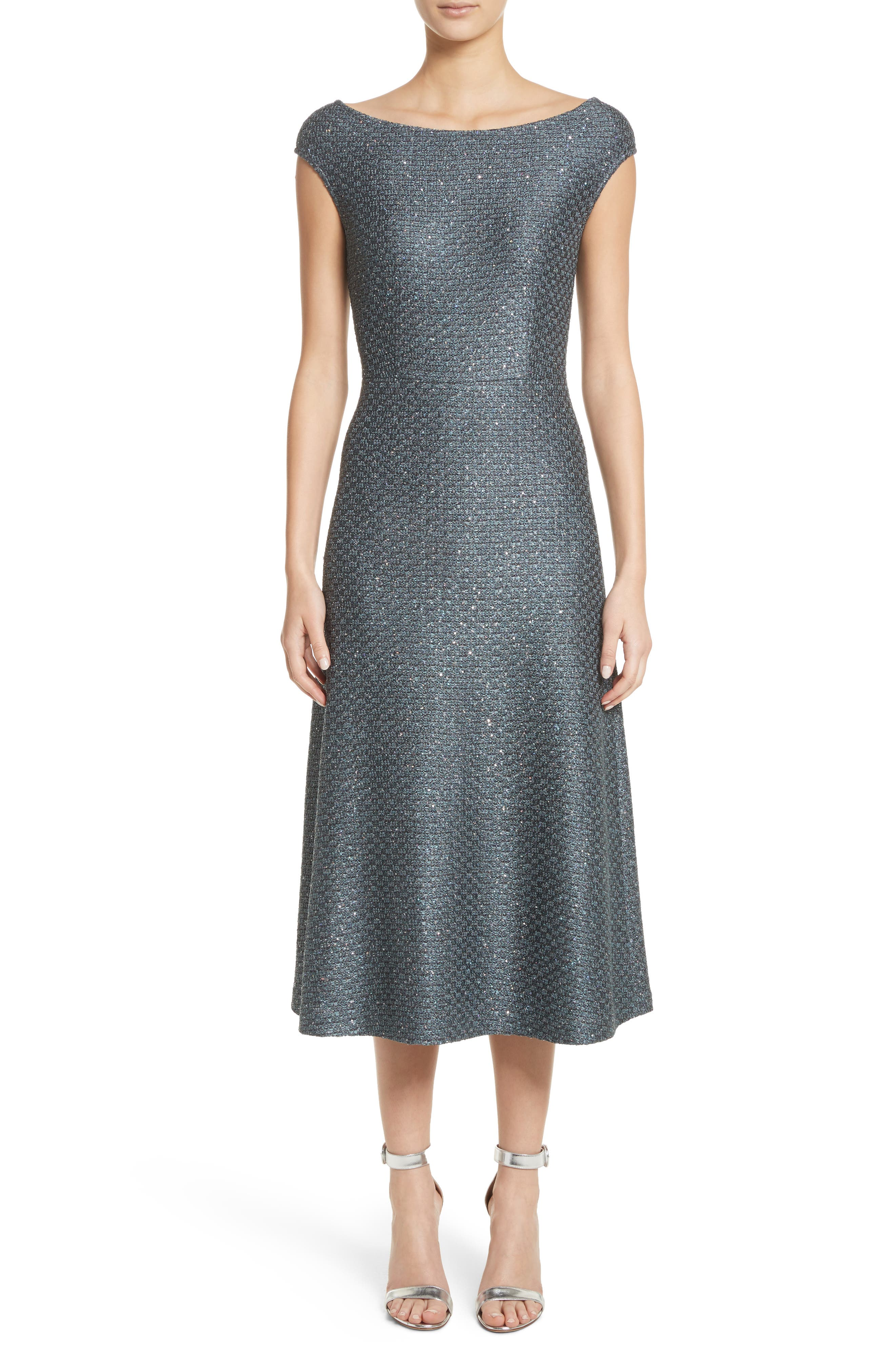 Sequin Knit Midi Dress,                         Main,                         color, Dark Grey Multi