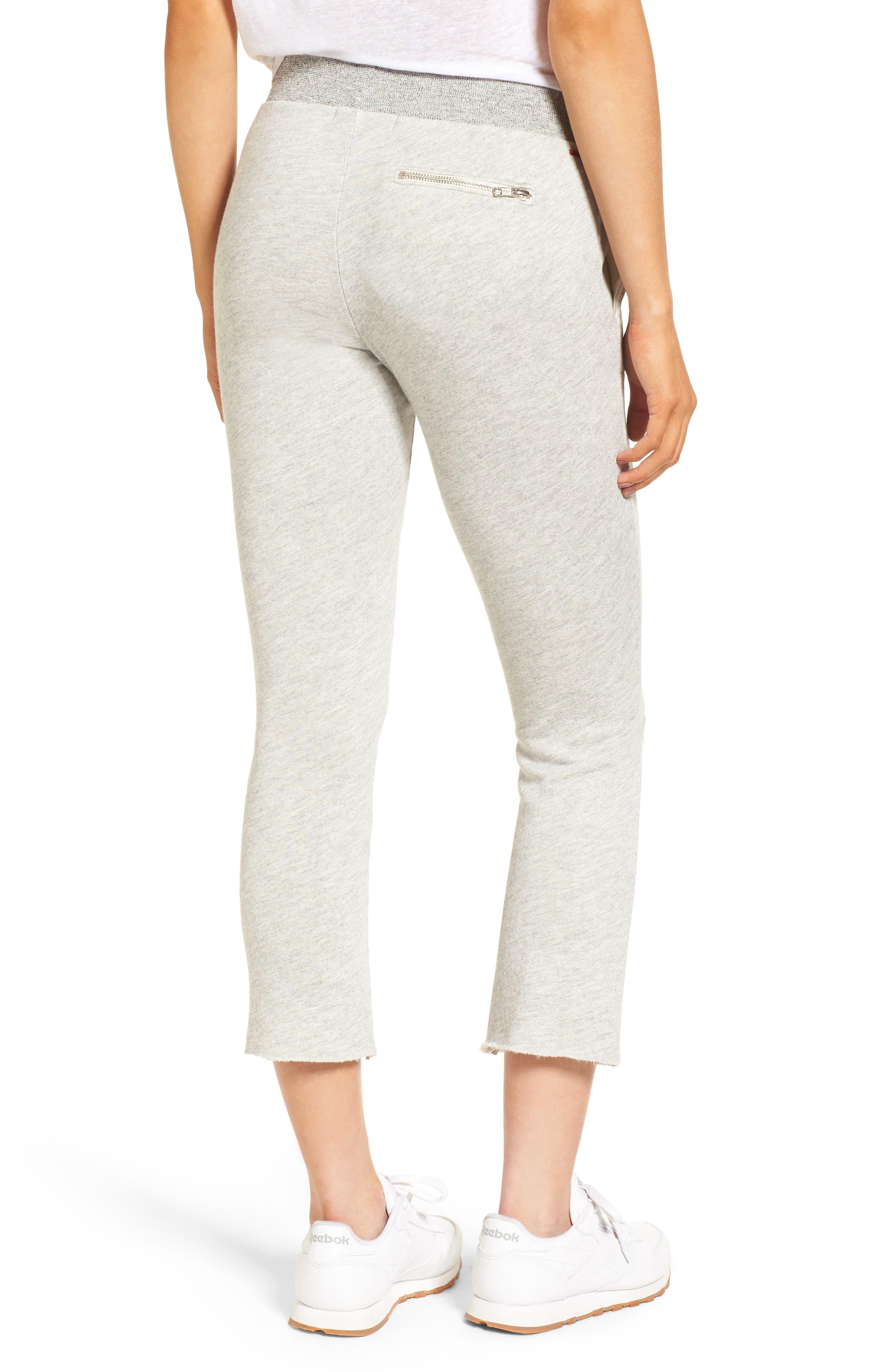 Malibu Slit Knee Sweatpants,                             Alternate thumbnail 2, color,                             Heather Grey