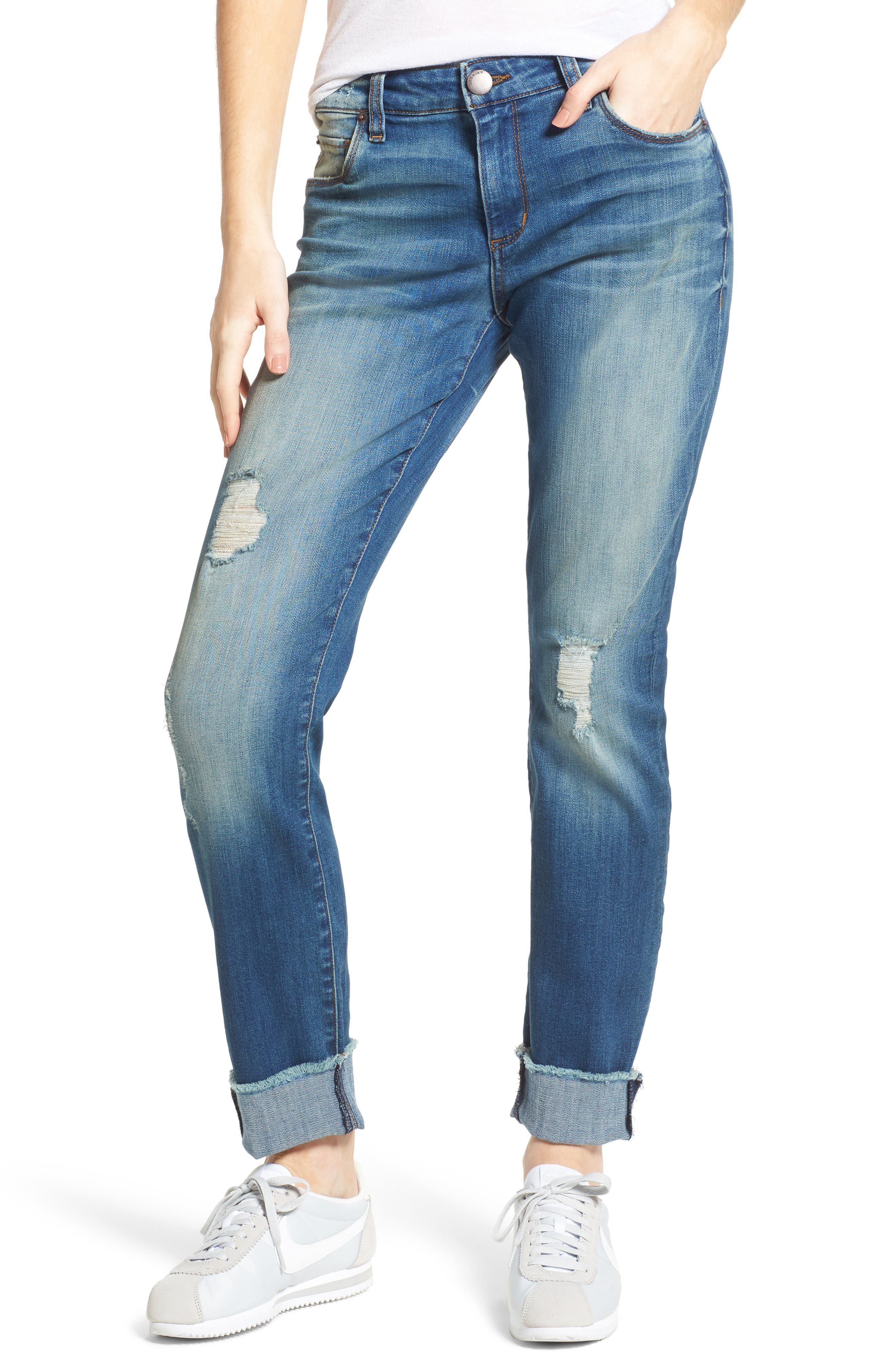 STS Blue Taylor Tomboy Ripped Boyfriend Jeans (Flamingo)