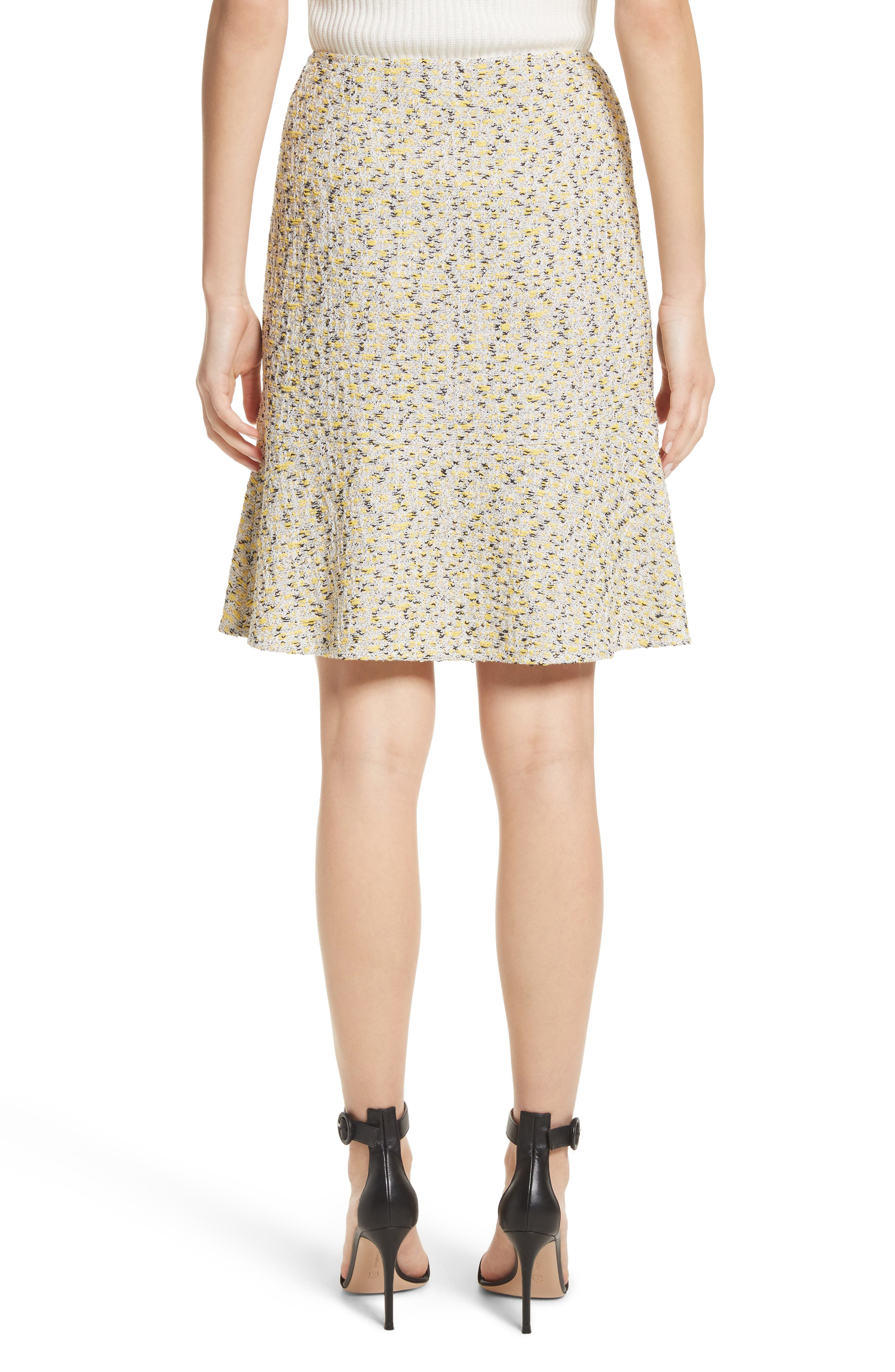 Alternate Image 2  - St. John Collection Romee Tweed Fit & Flare Skirt